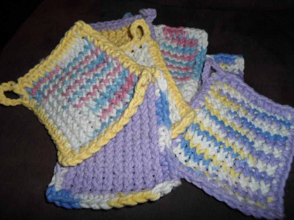 Pot Holder Knitting Pattern : loom knitted pot holders Crochet Pinterest