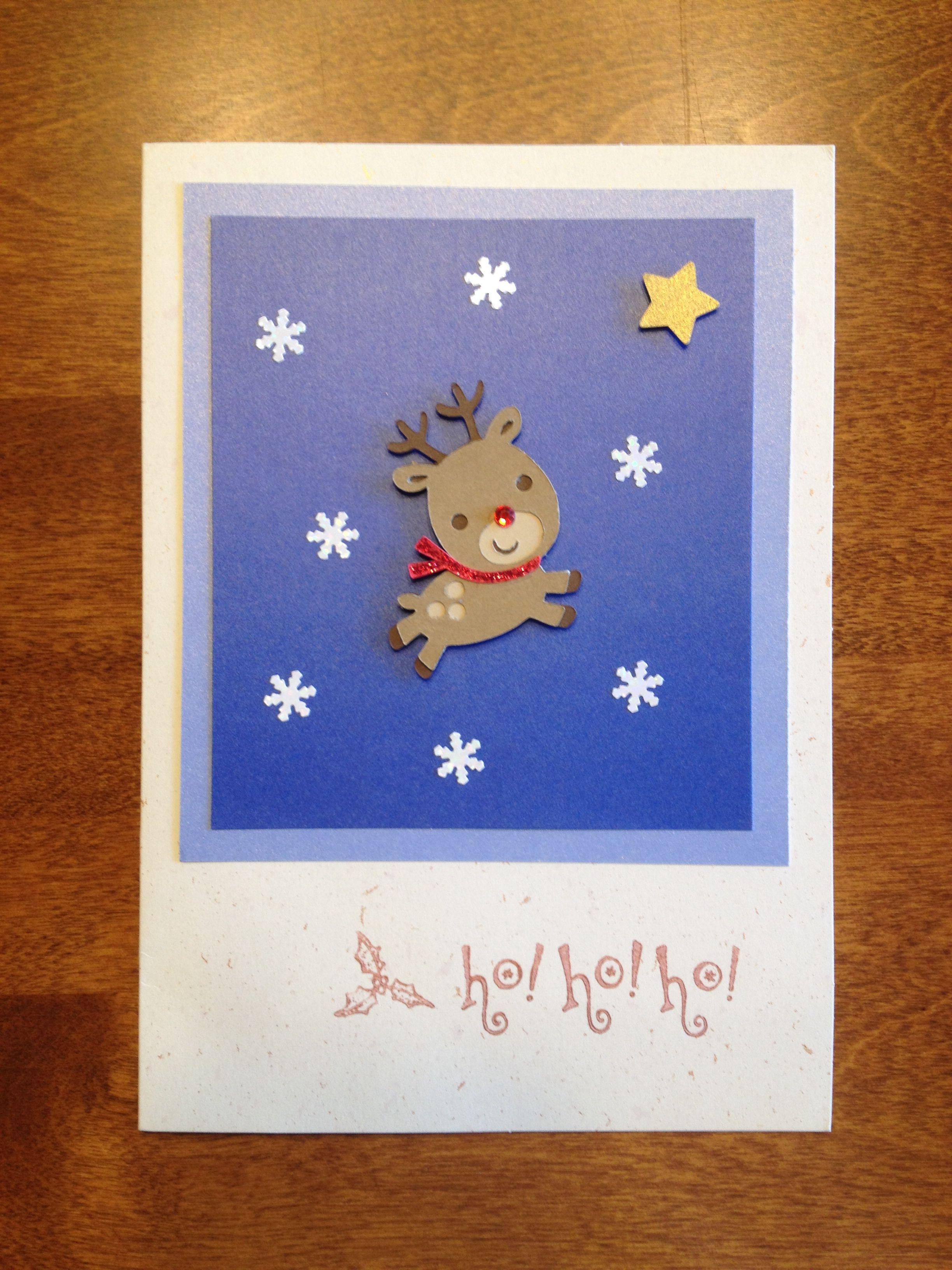 Handmade Christmas card, Cricut reindeer | Cardmaking | Pinterest
