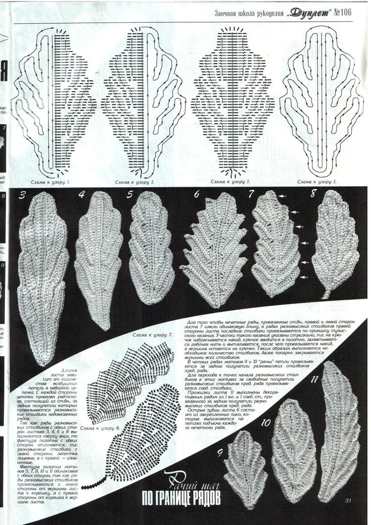 Fall leaves crochet patterns   Irish Crochet and Freeforms   Pinterest