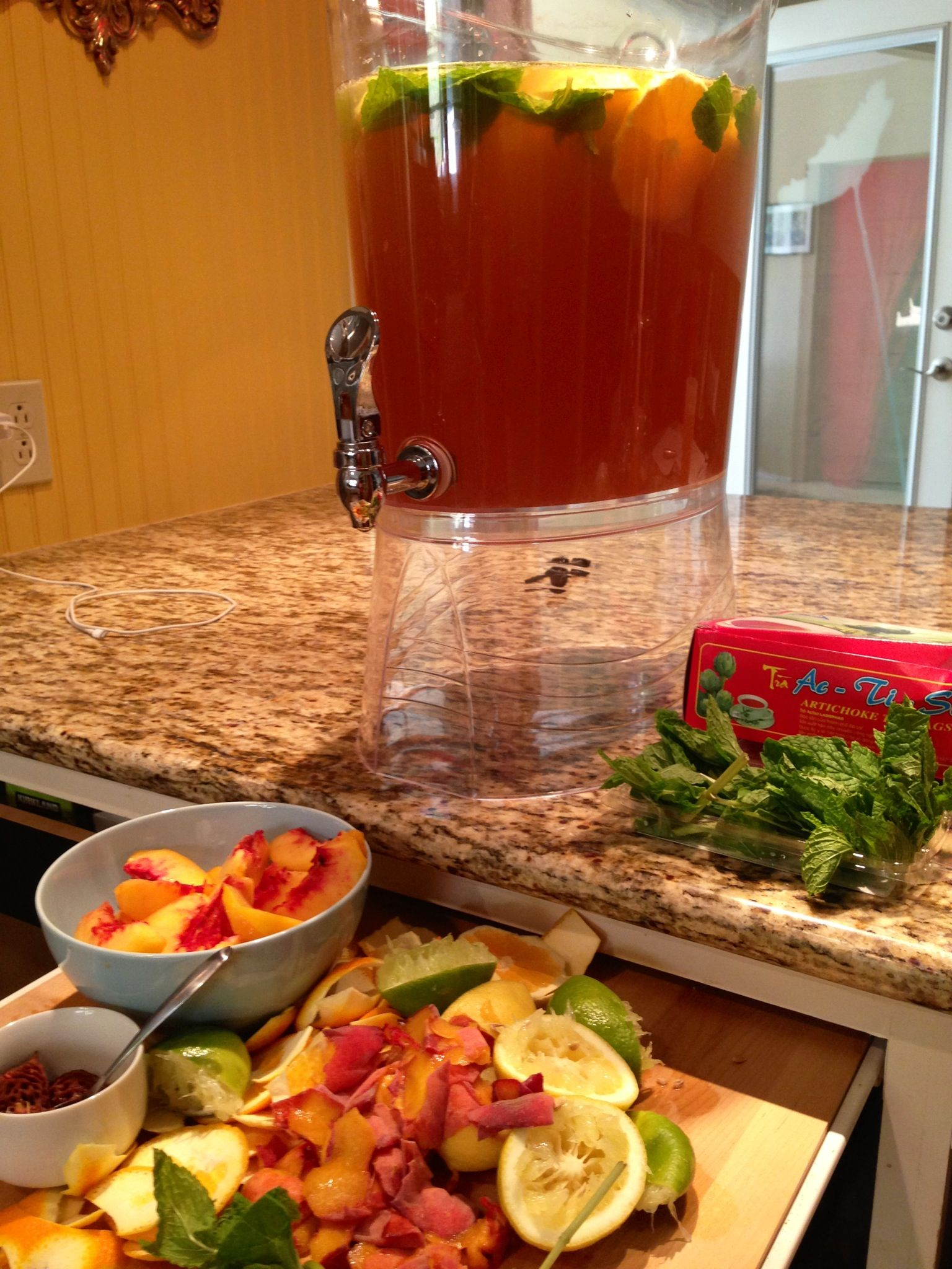 iced tea raspberry and rum iced tea rhubarb iced tea ginger iced tea ...