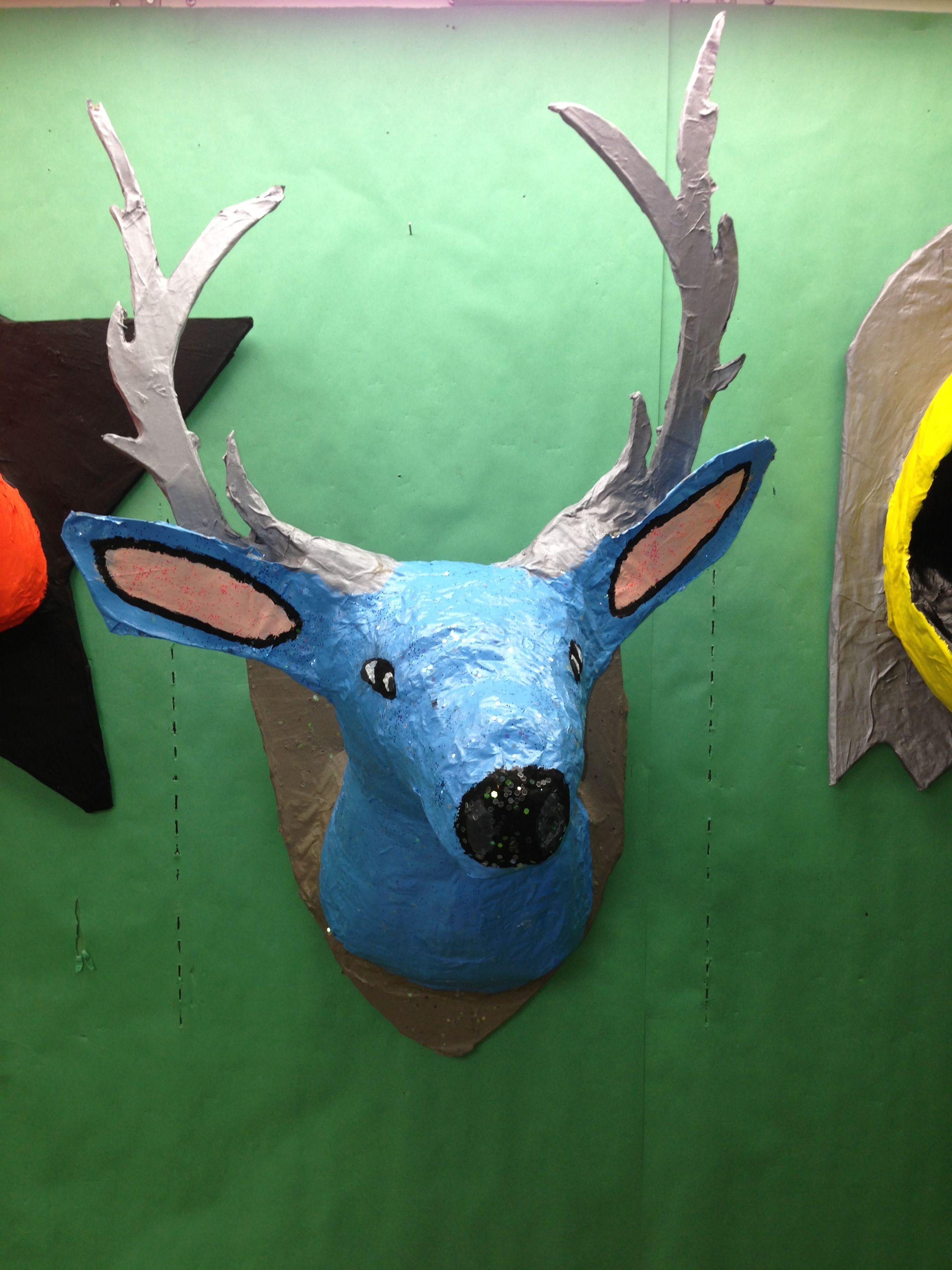 Paper M Ch Taxidermy Paper Mache Pinterest