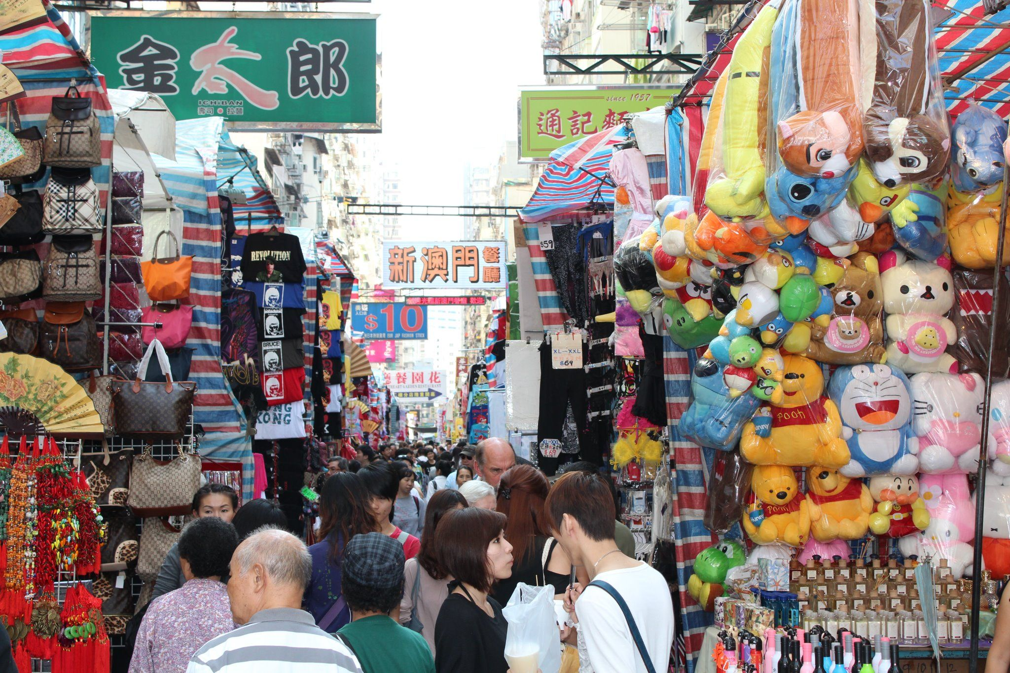 how to go to ladies market hong kong