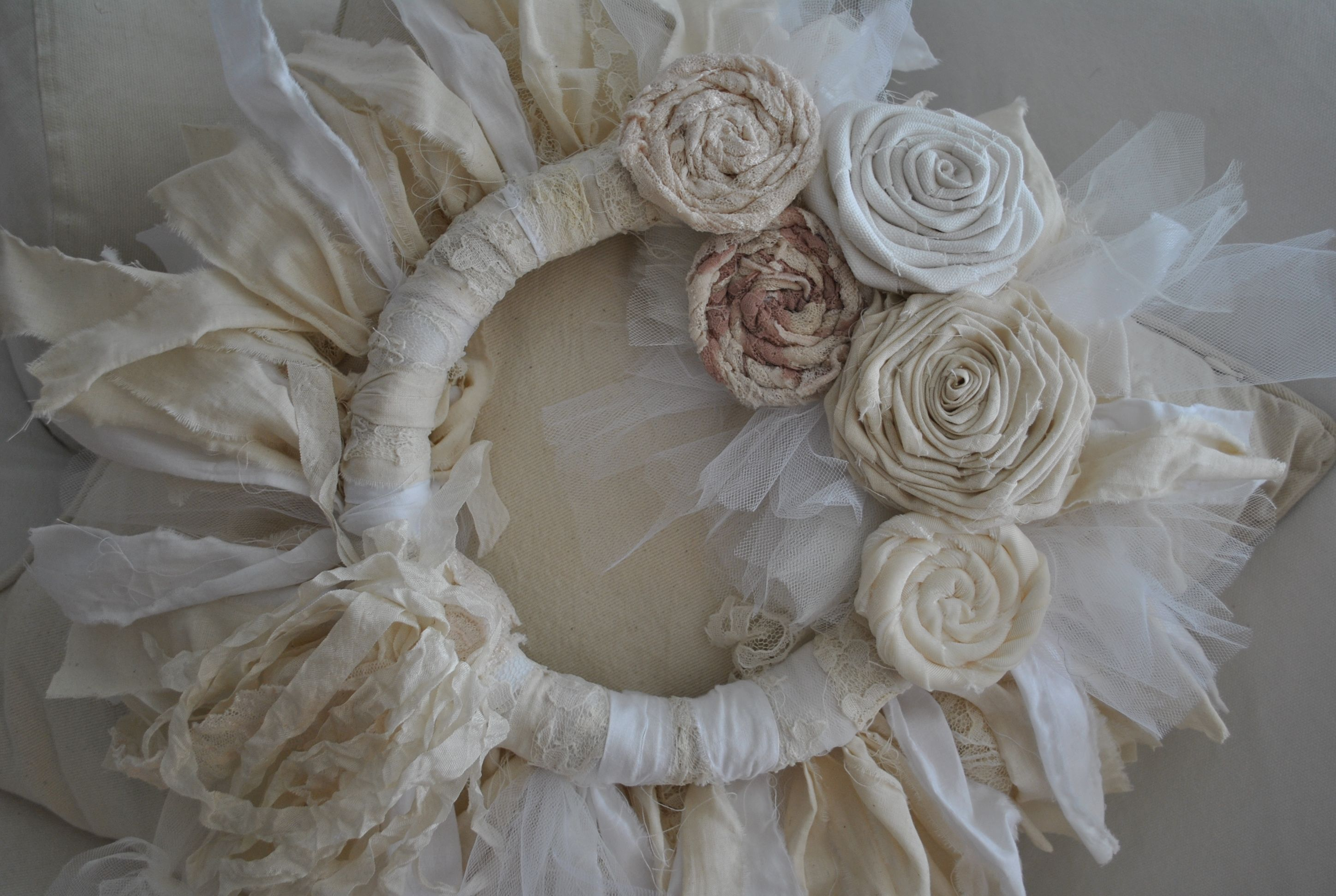 shabby chic wreath for sale on ebay shabby chic