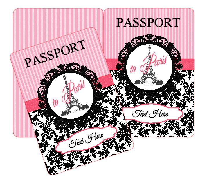 Paris Party: Passport Invitations | Paris Party | Pinterest
