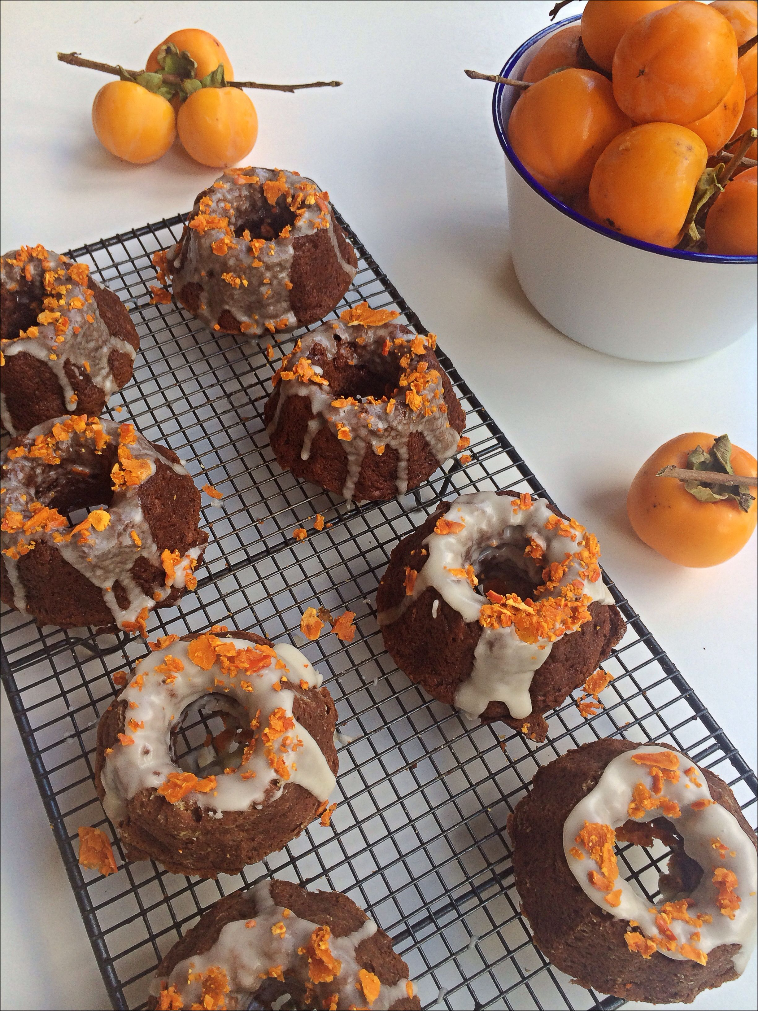 spiced persimmon cakes // fig + salt | sweet | Pinterest