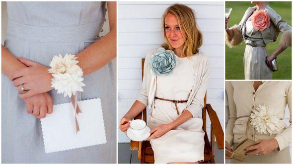 Сделать цветок из ткани на платье