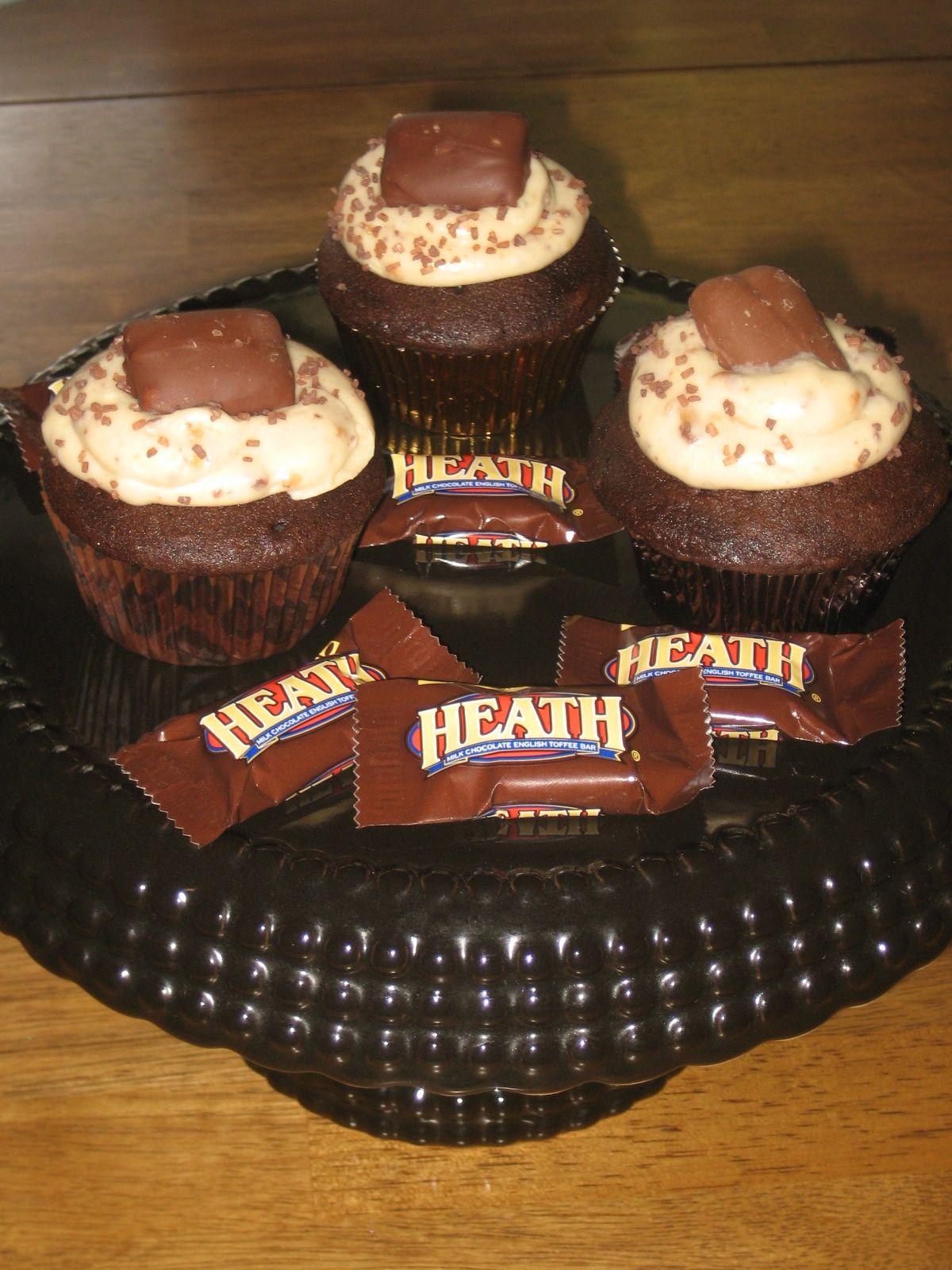 Heath bar cupcakes | Cupcakes Baby | Pinterest