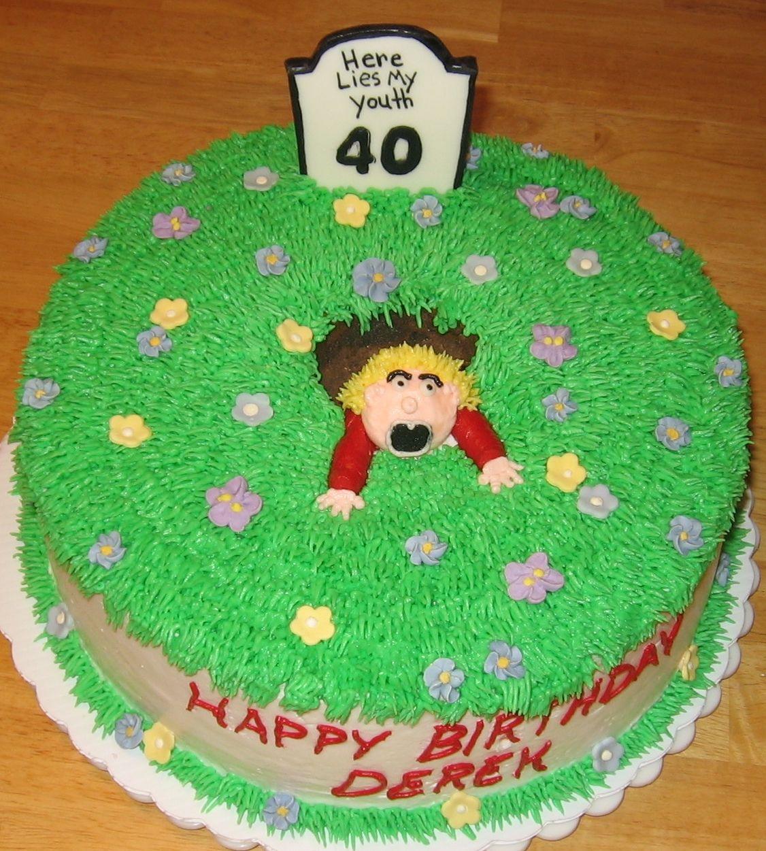 turning 40 cakes