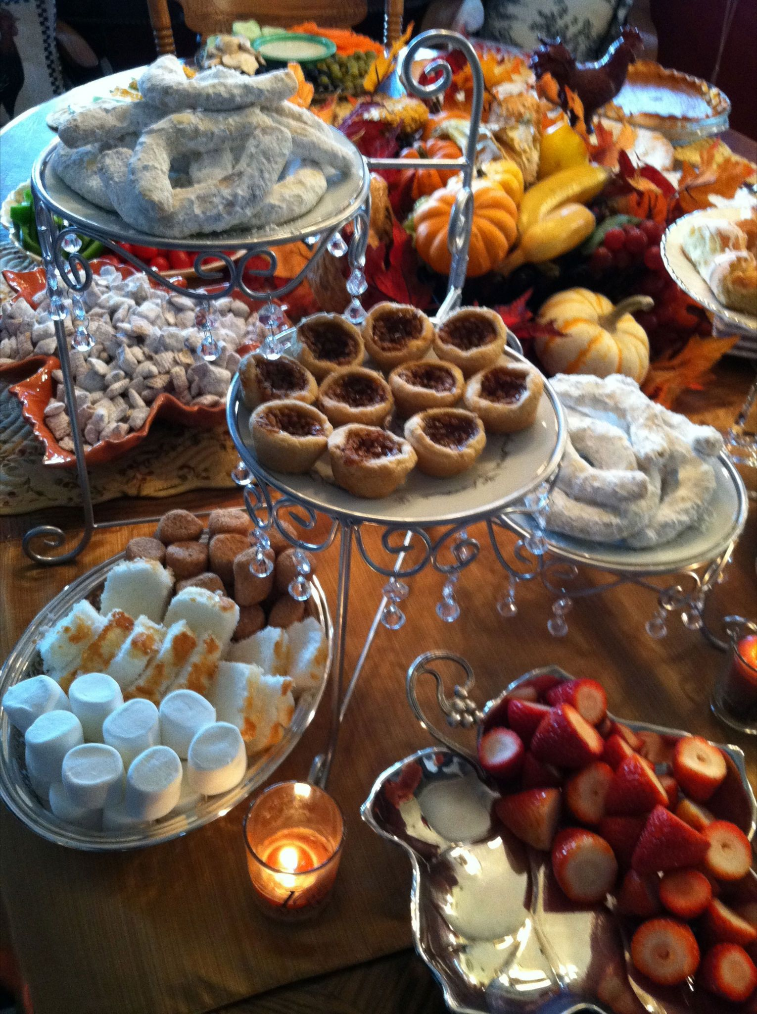 Thanksgiving Dessert Table Good Eats Pinterest