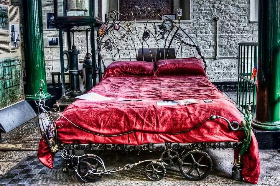 Steampunk bed home pinterest for Steampunk bed