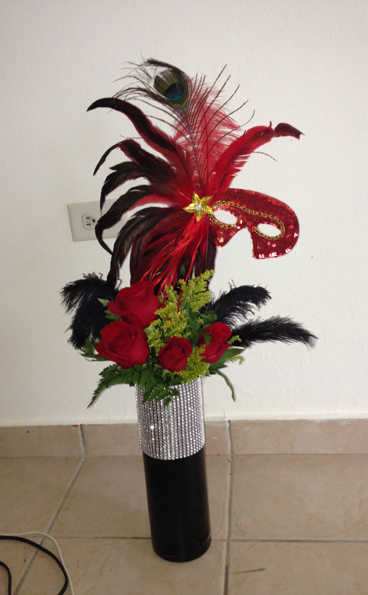 Masquerade centerpiece wedding ideas pinterest