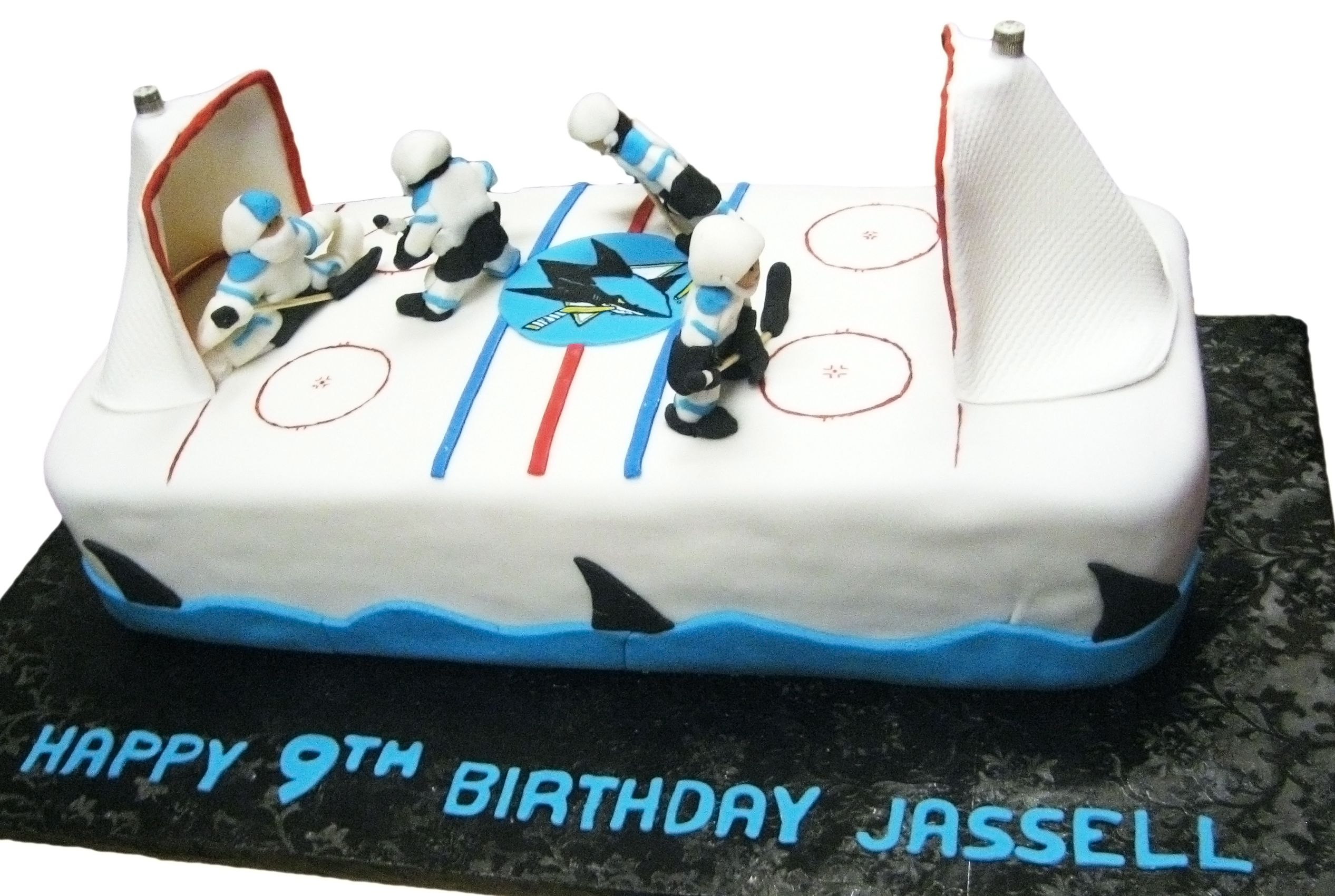 San Jose Sharks Birthday Cake!  Beautiful things to have  Pinterest