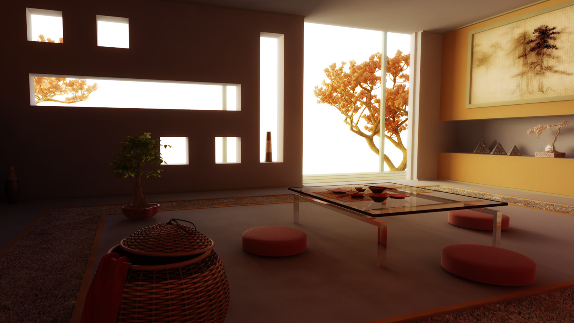 zen japanese living room