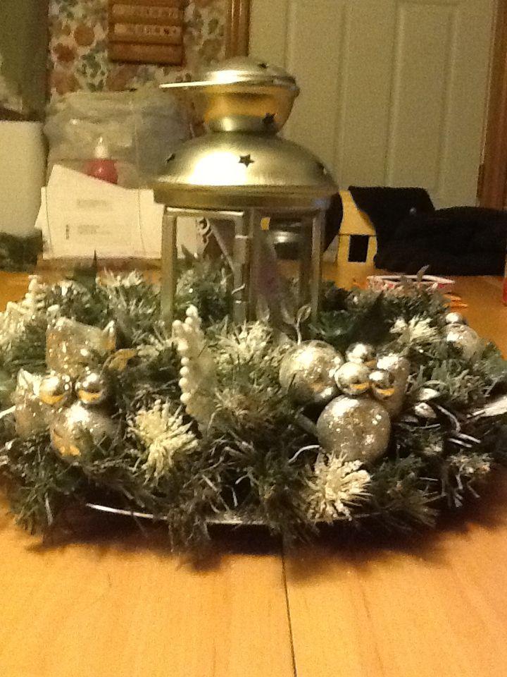 Christmas lantern centerpiece wedding inspiration
