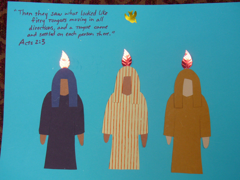 pentecost fire on head