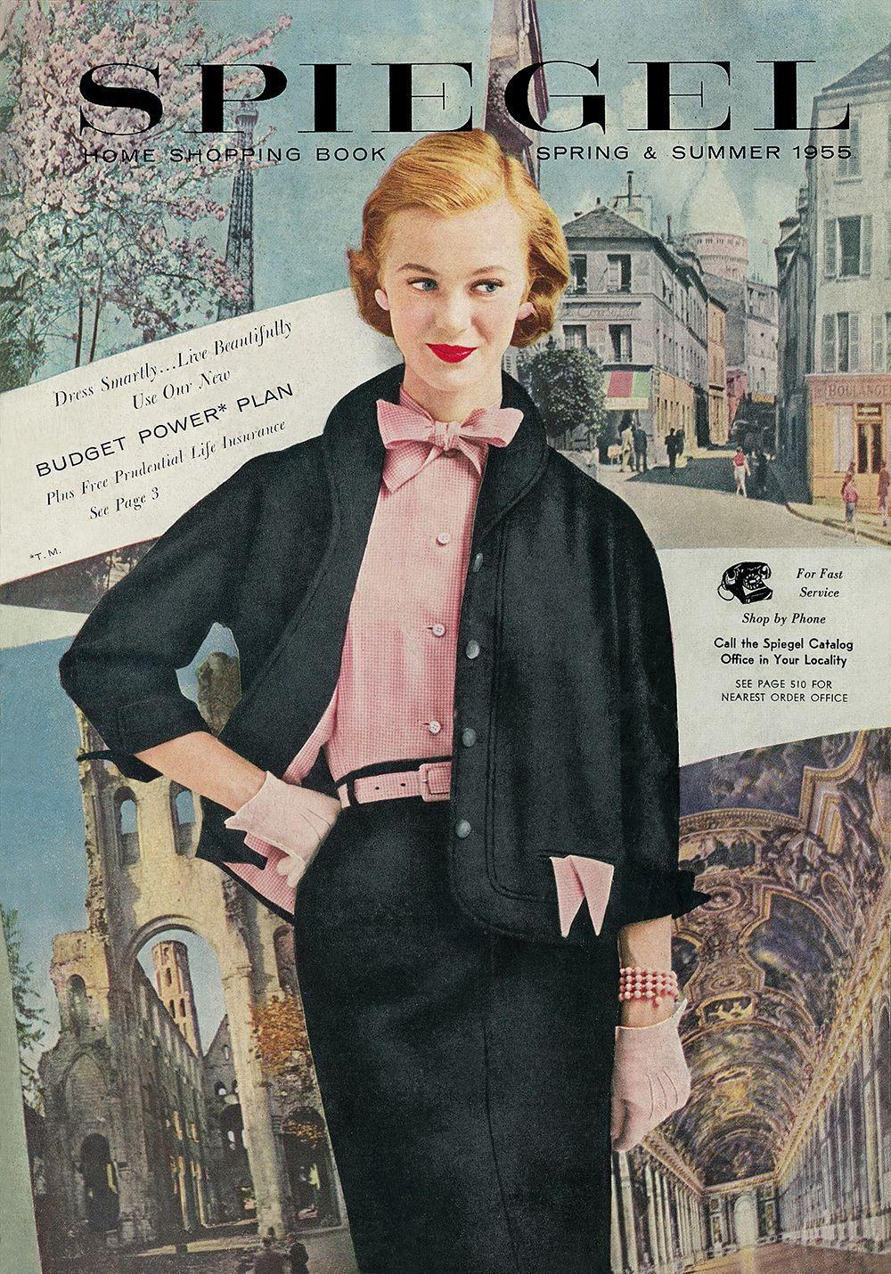1955 spiegel catalog cover my vintage style pinterest. Black Bedroom Furniture Sets. Home Design Ideas