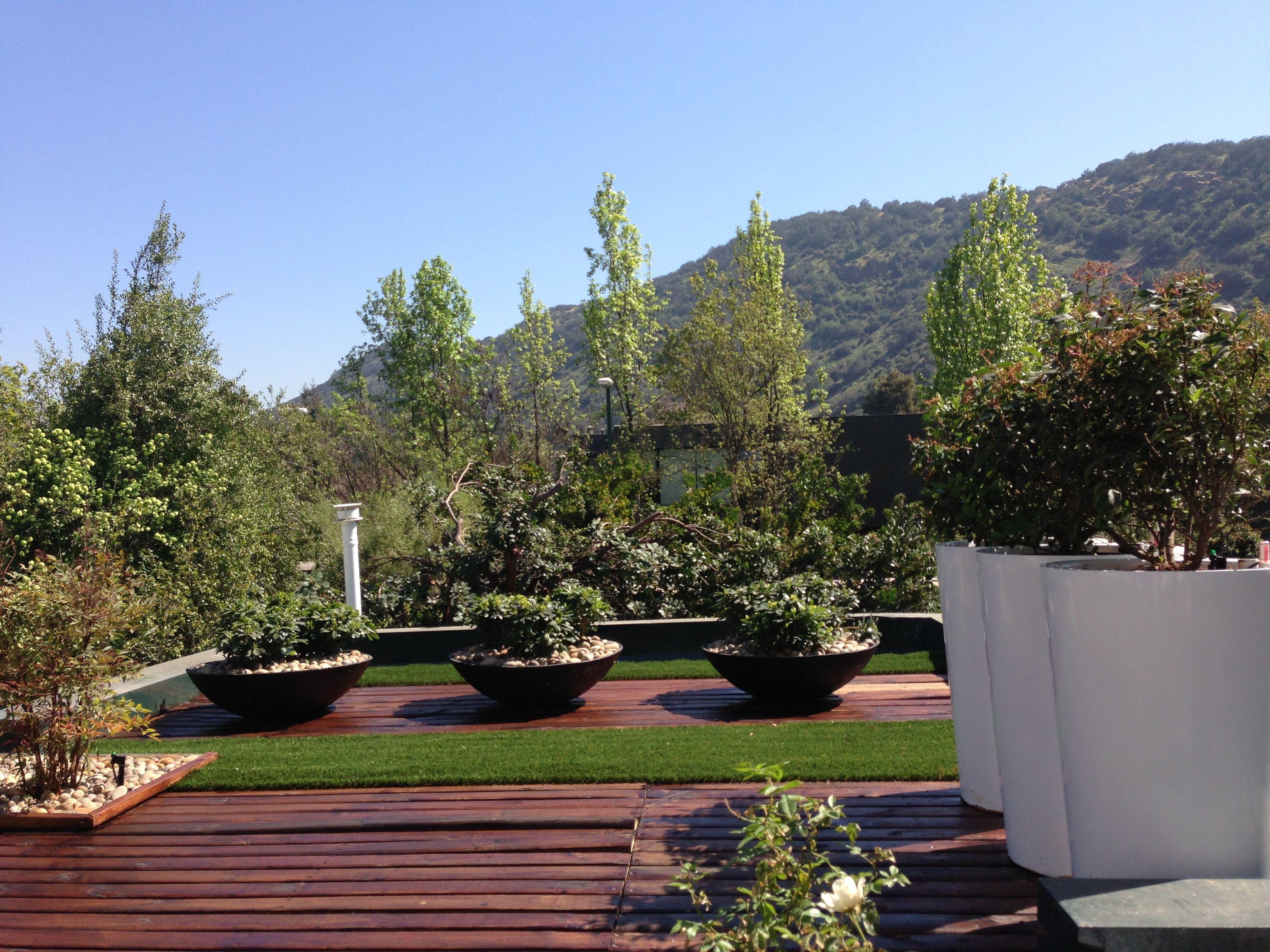 Techo en santiago de chile jardines modernos pinterest for Jardines modernos