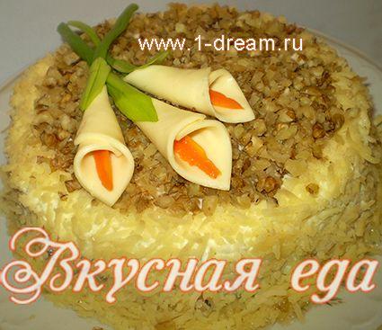 Вкусный салат с курицей и шампиньонами рецепт