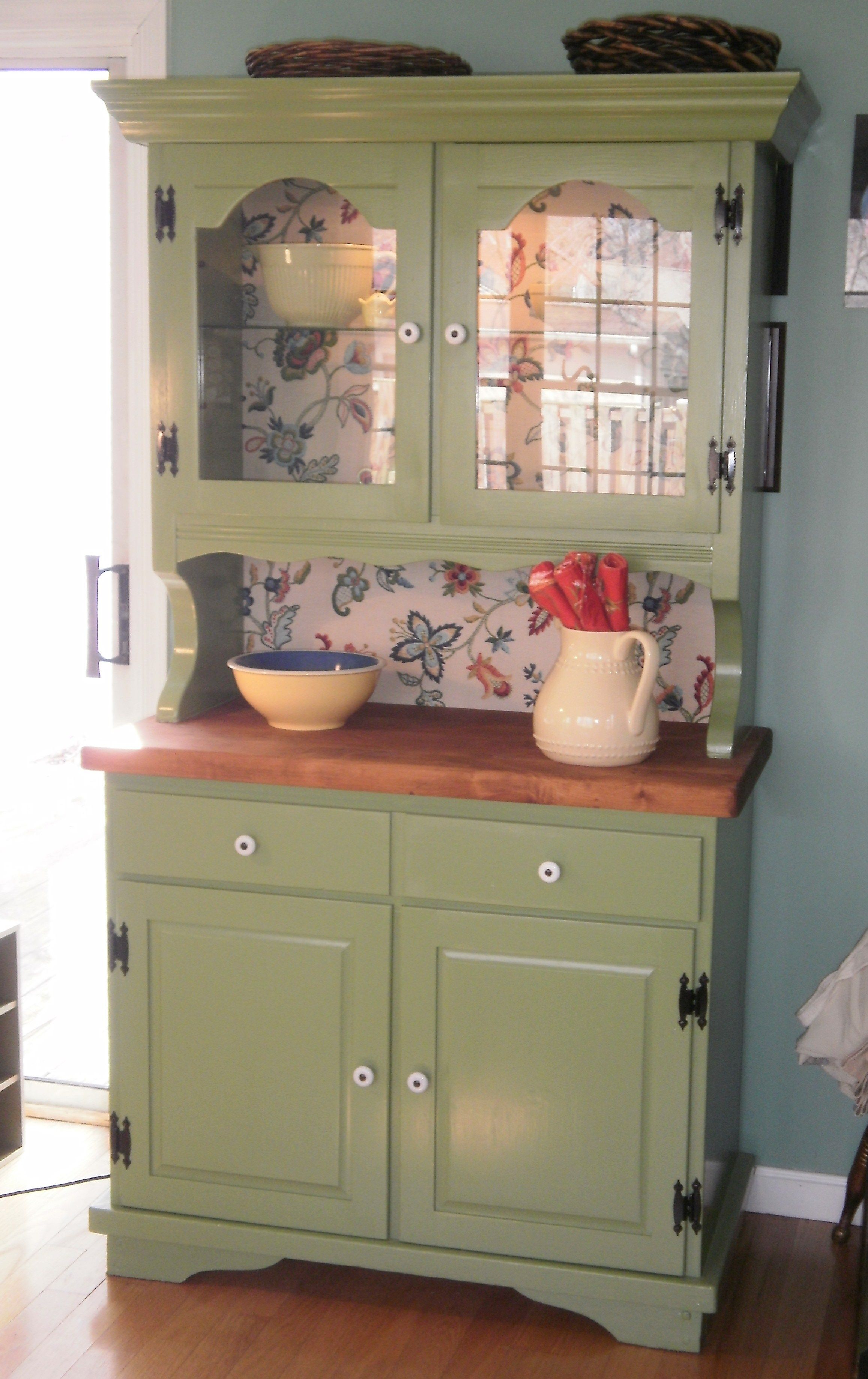 Green Painted Hutch | House Plans | Pinterest