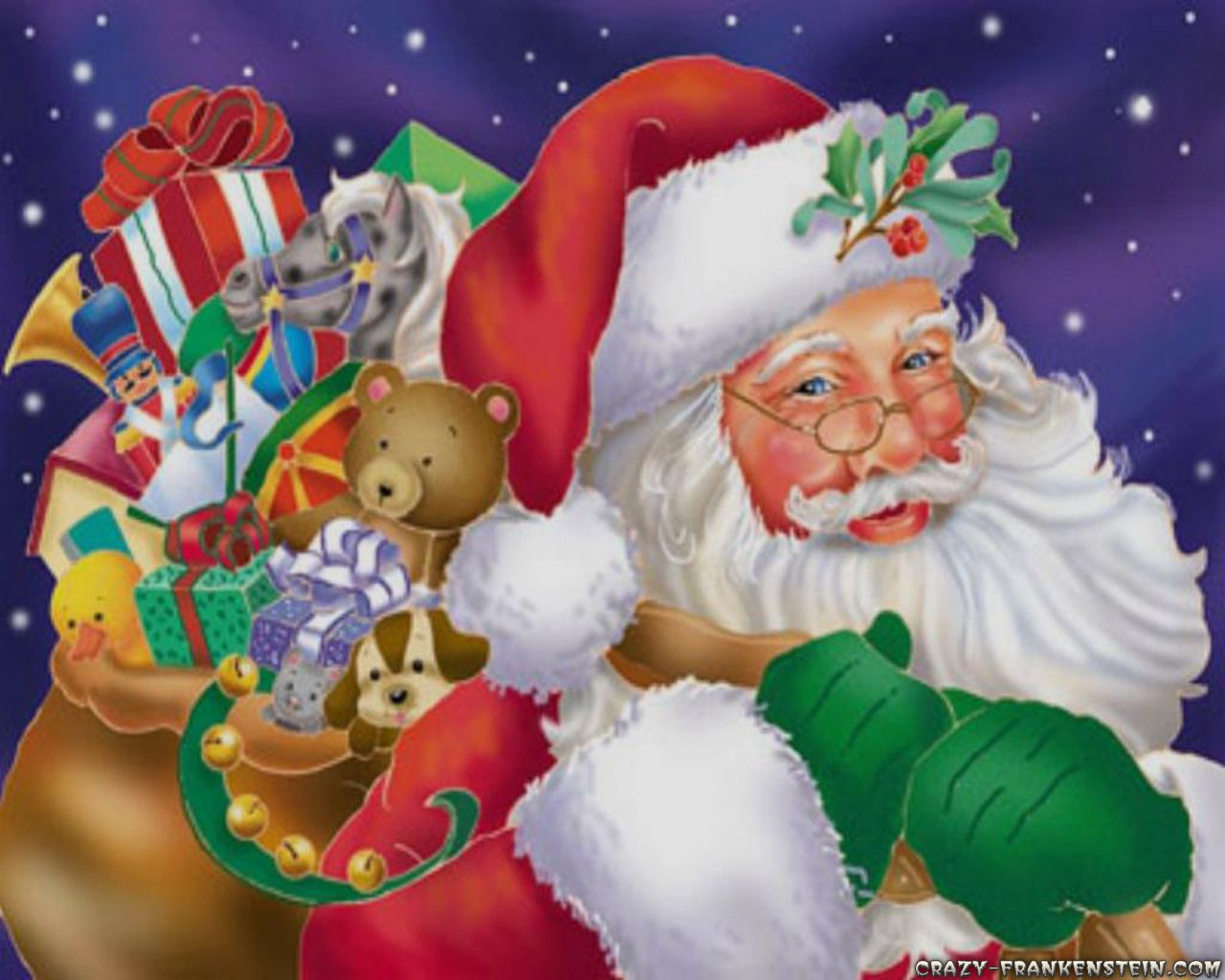 Toys From Santa : Santa and his bag of toys christmas art pinterest