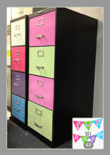 Fun in Room 4B: Repurposed Filing Cabinet-A How To Guide - chalkboard paint would be cool. Great for storage in girl's room.