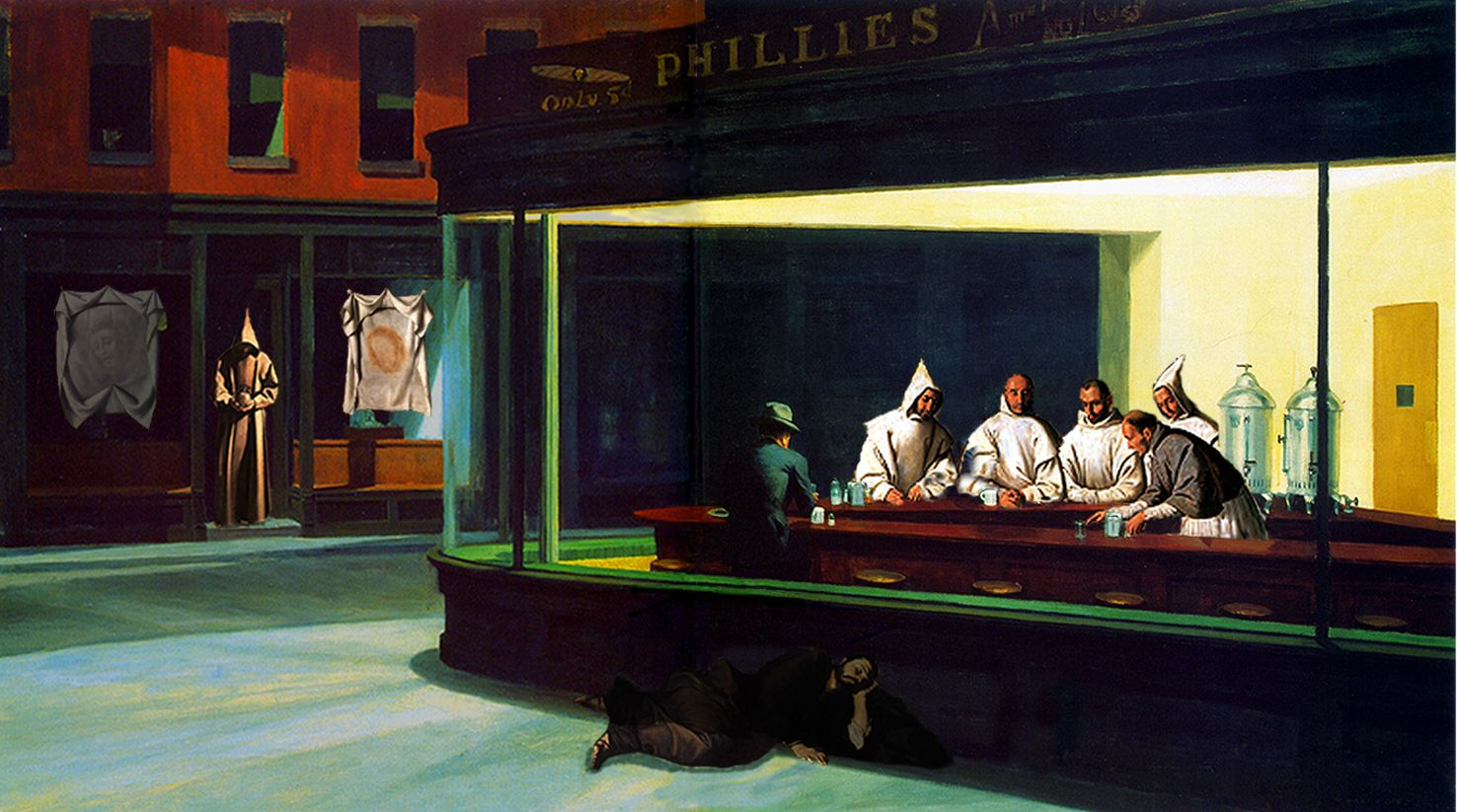 edward hopper's nighthawks As part of their exhibition hopper drawing, the whitney museum has installed a  three-dimensional recreation of the artist's most famous work,.