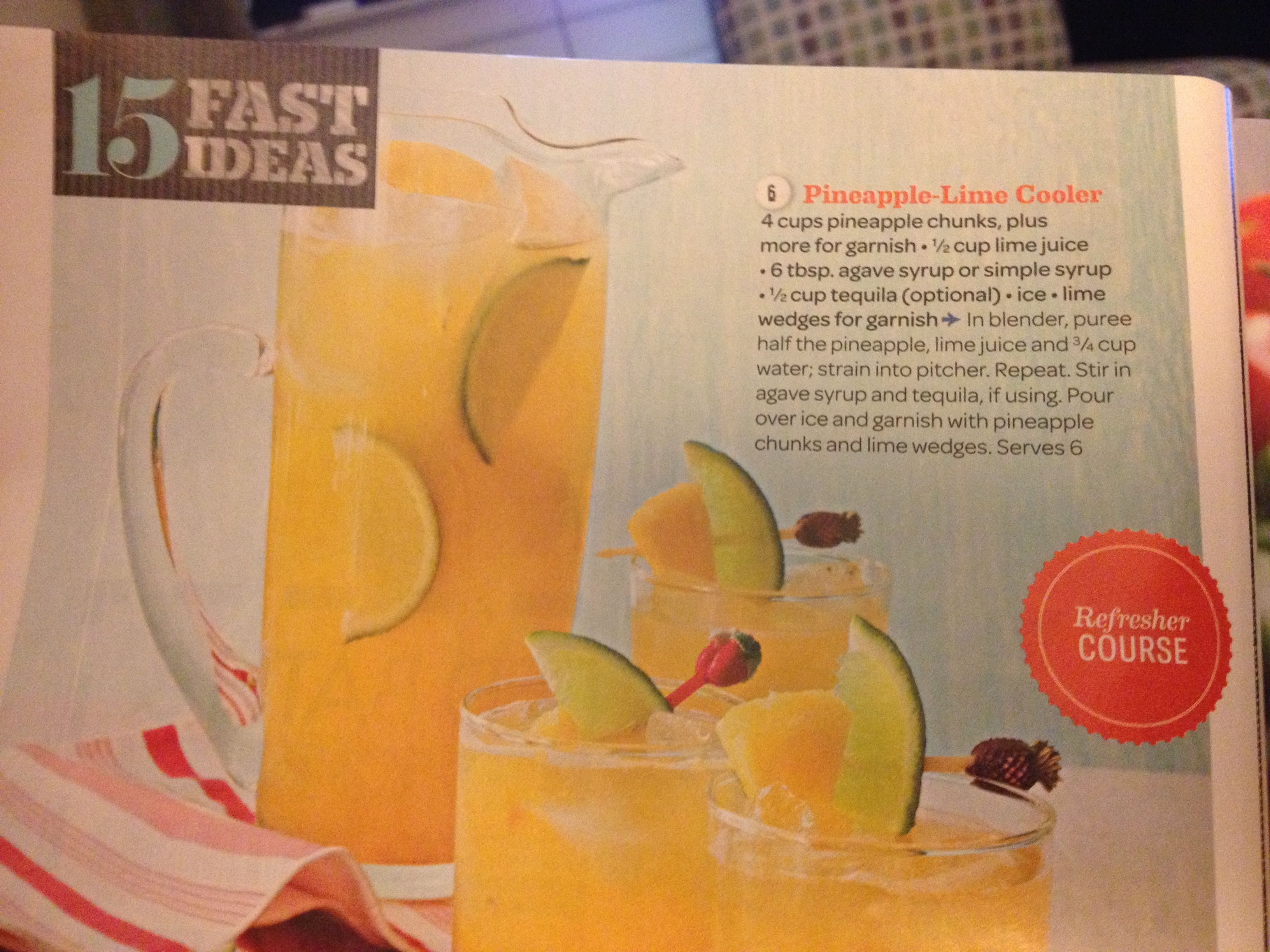 Pineapple lime cooler | Hostess with the mostess =) | Pinterest