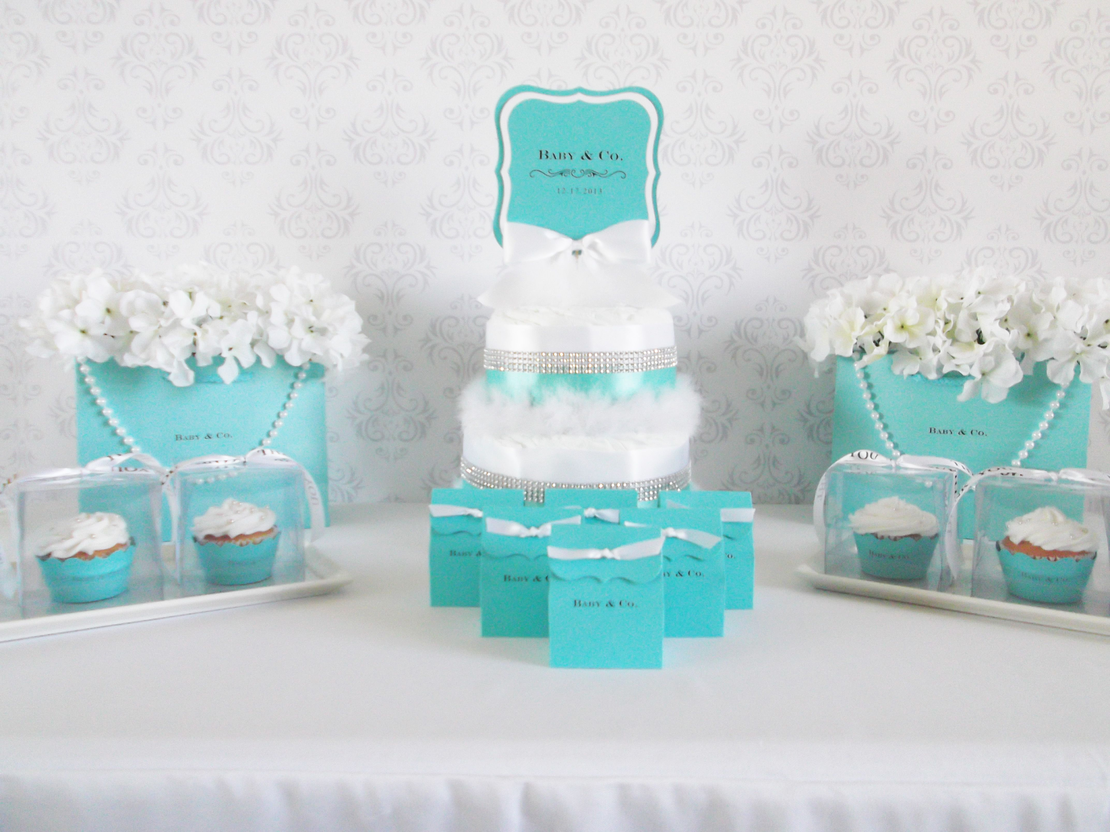 tiffany baby shower favor table tiffany co inspired shower pint