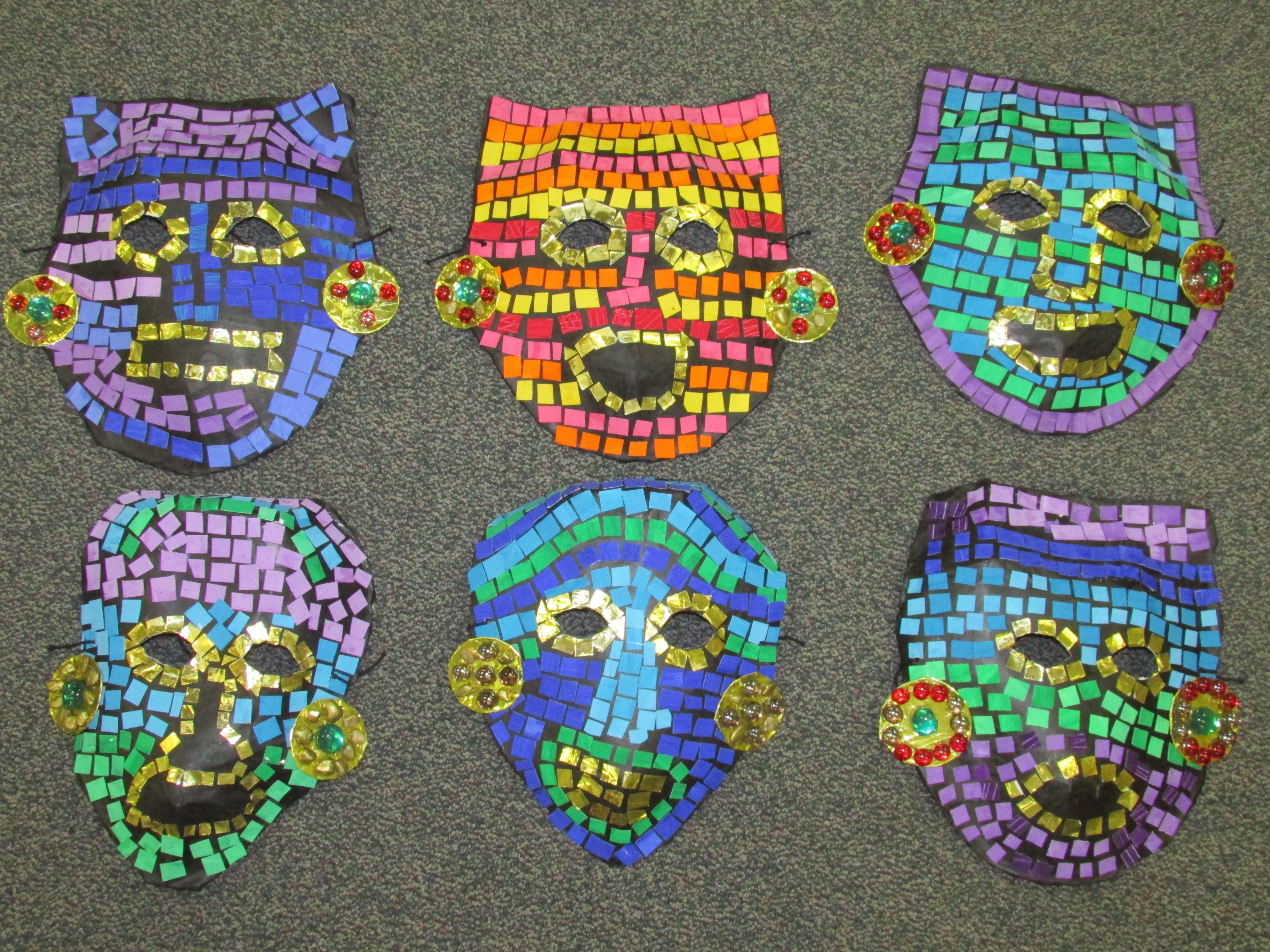 Aztec Calendar Art Lesson : Mayan masks ks new calendar template site
