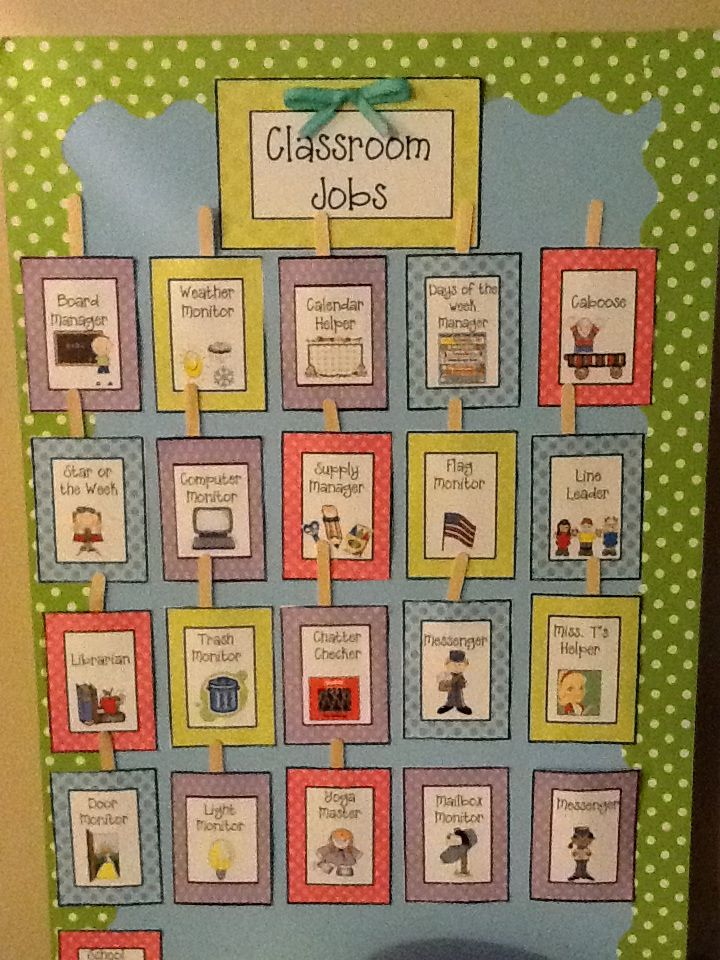 Classroom Job Ideas For Kindergarten : Job chart on pinterest classroom jobs helpers