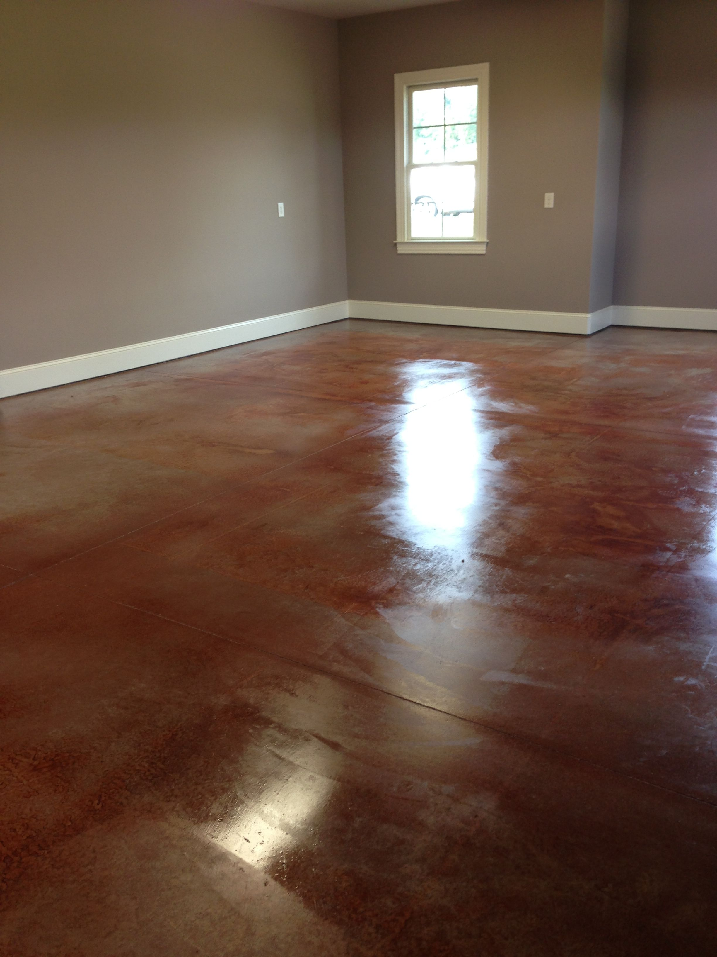 Stained concrete garage floor for the home pinterest for Stained concrete floors