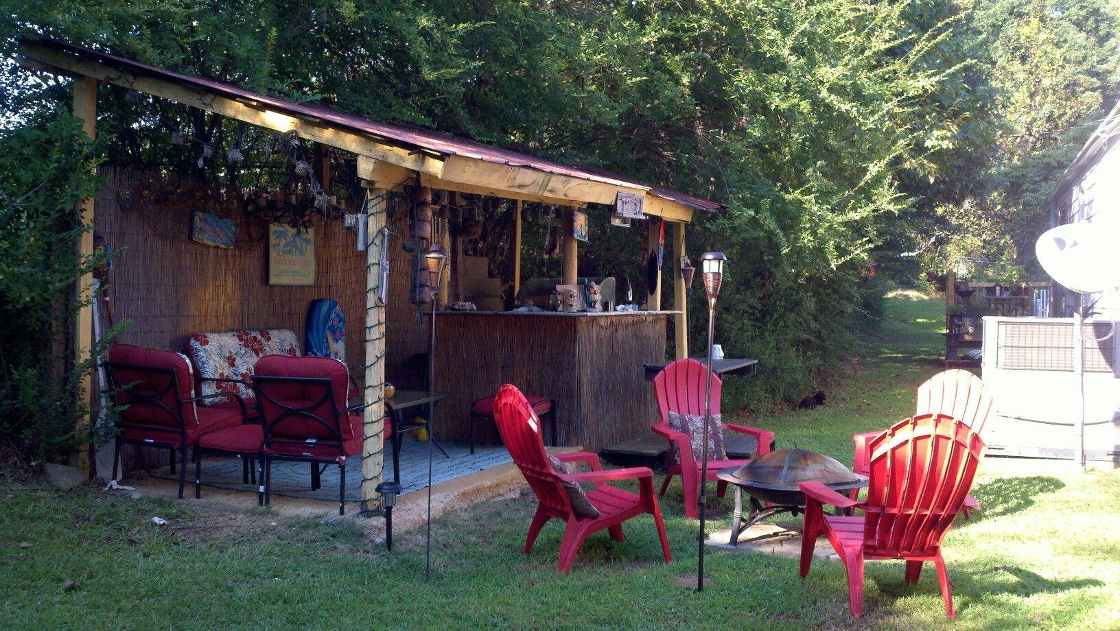 backyard tiki hut home pinterest