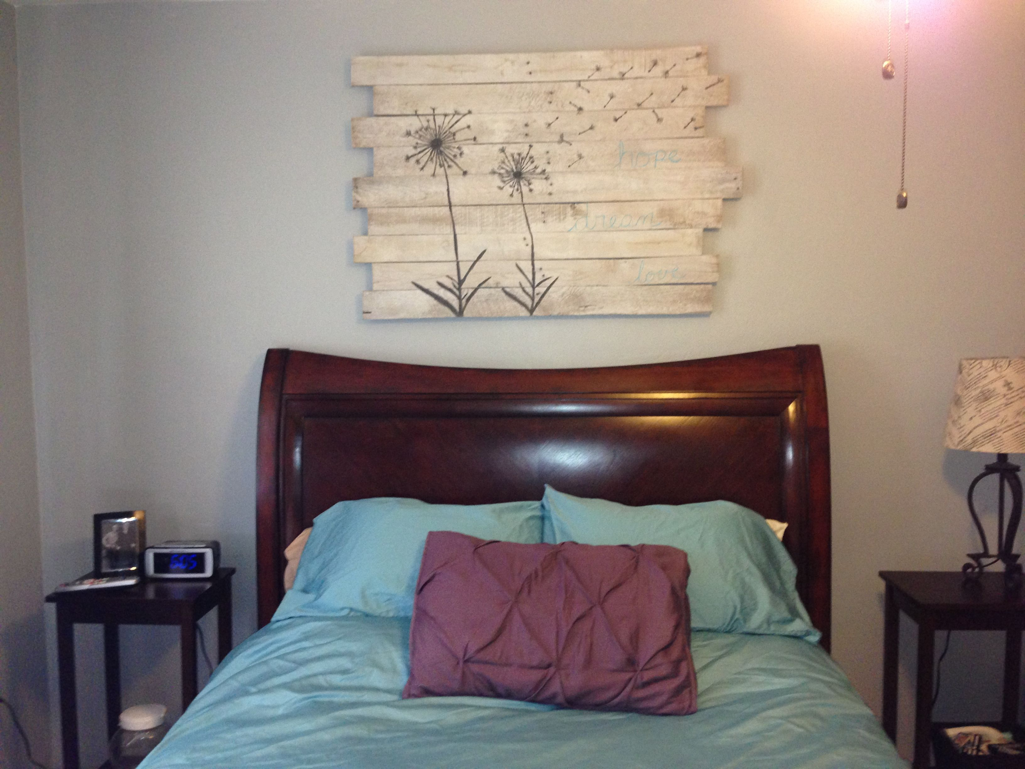 New Artwork Above Headboard For The Home Pinterest