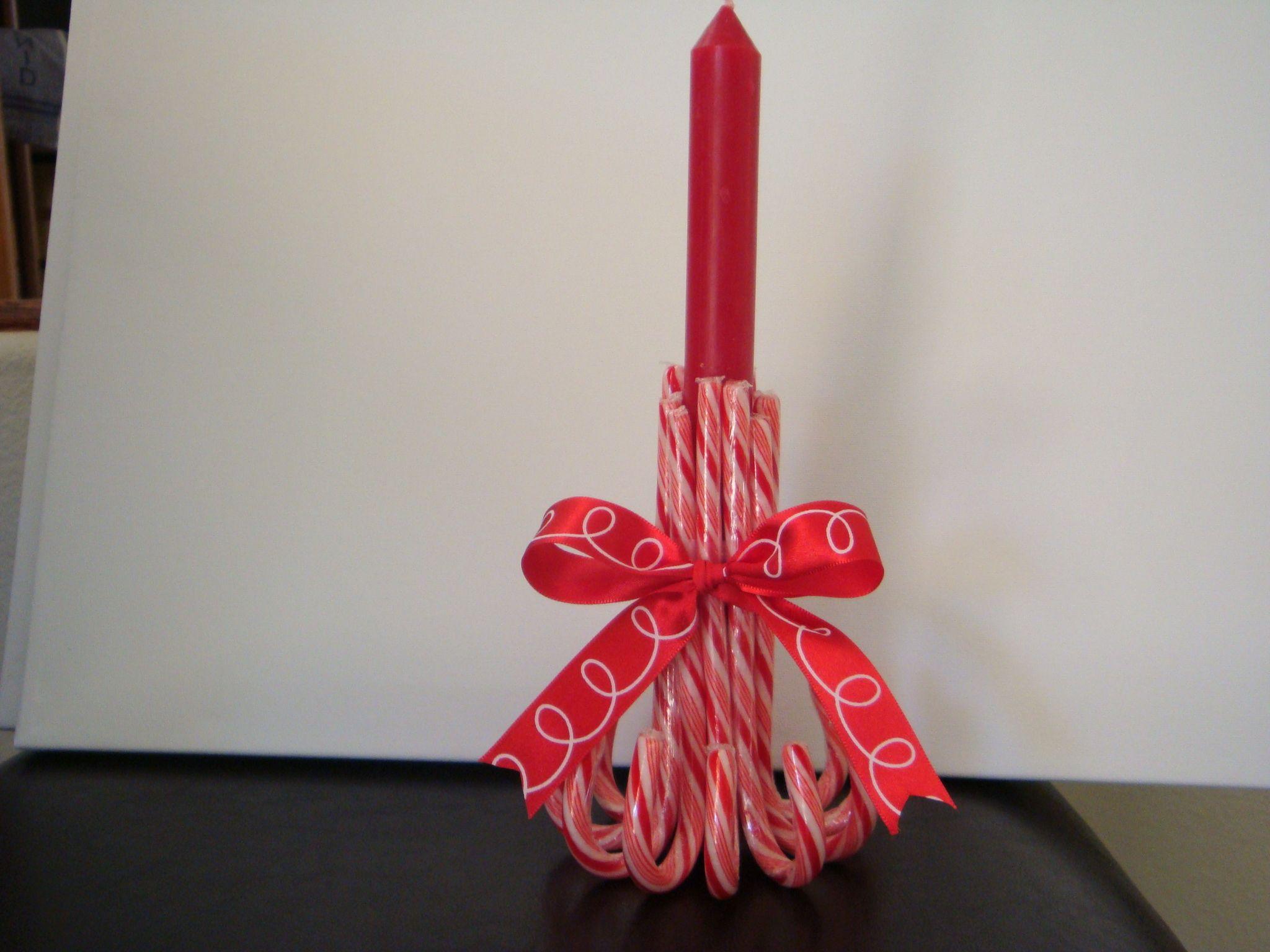 Candy cane candle holder crafts pinterest for Candle holder crafts