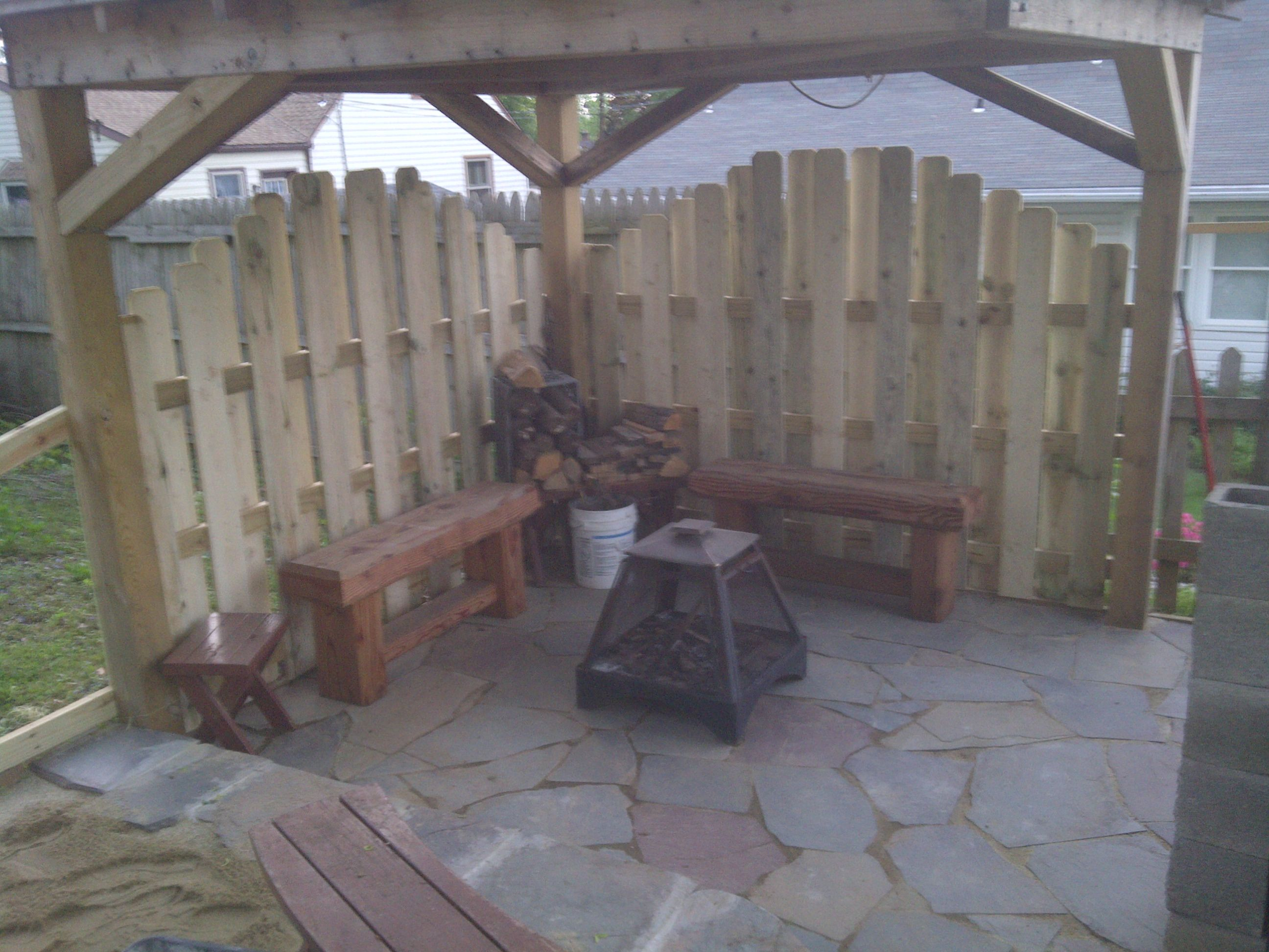 Pagoda patio and fence Landscaping Pinterest