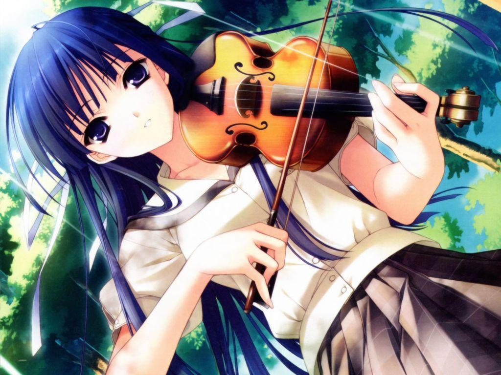 anime girl playing a violin | Anime | Pinterest