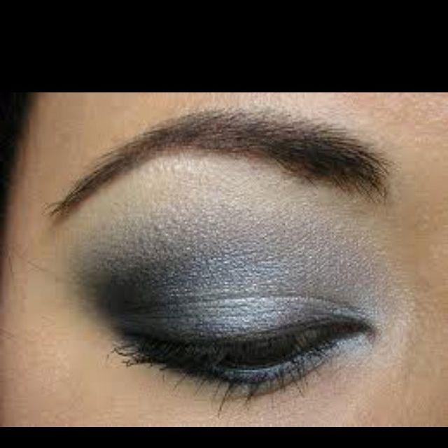 Пошаговый макияж вечерний для серых глаз фото