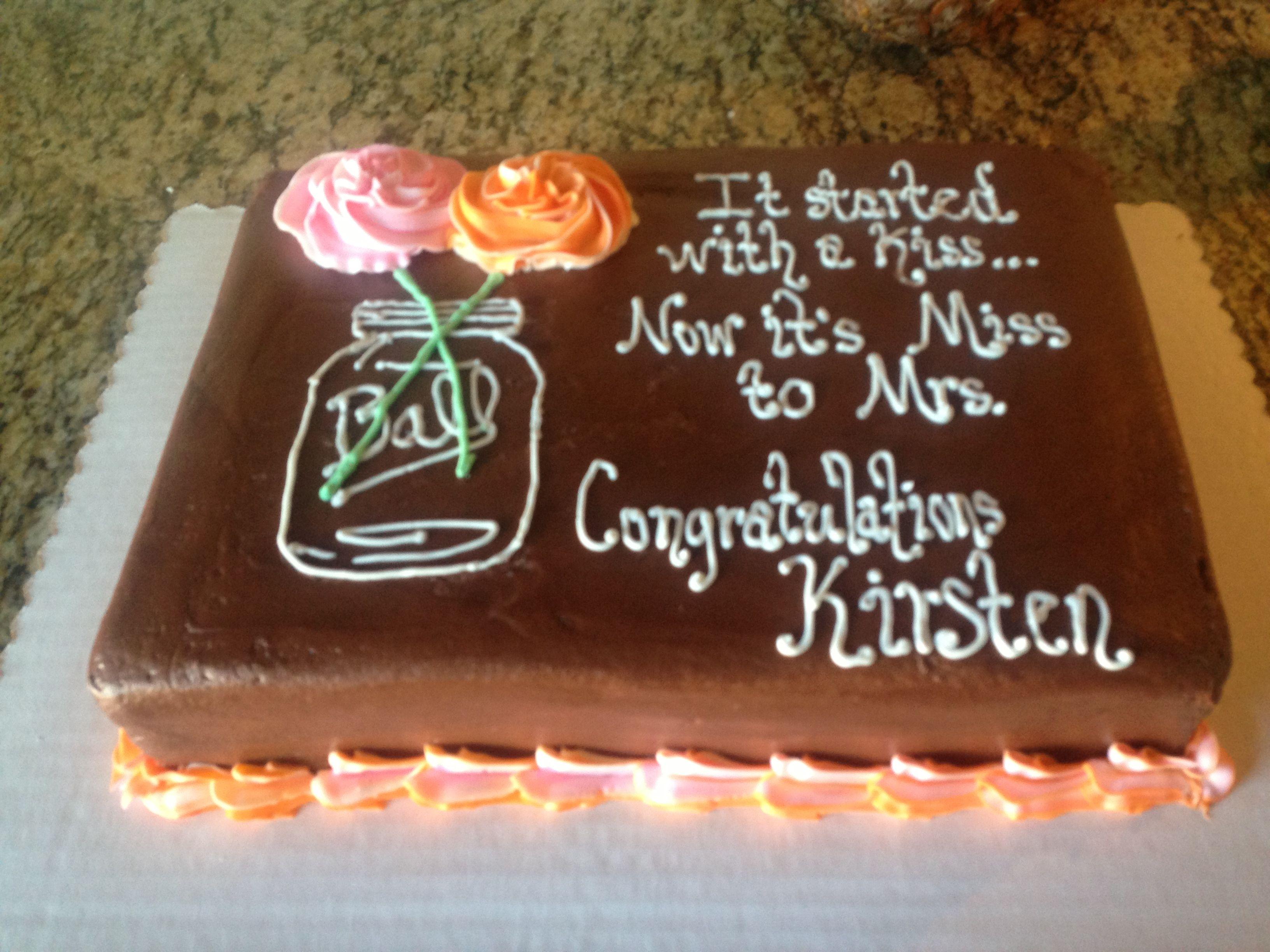 Mason Jar Bridal Shower Cake Hill Country Baker