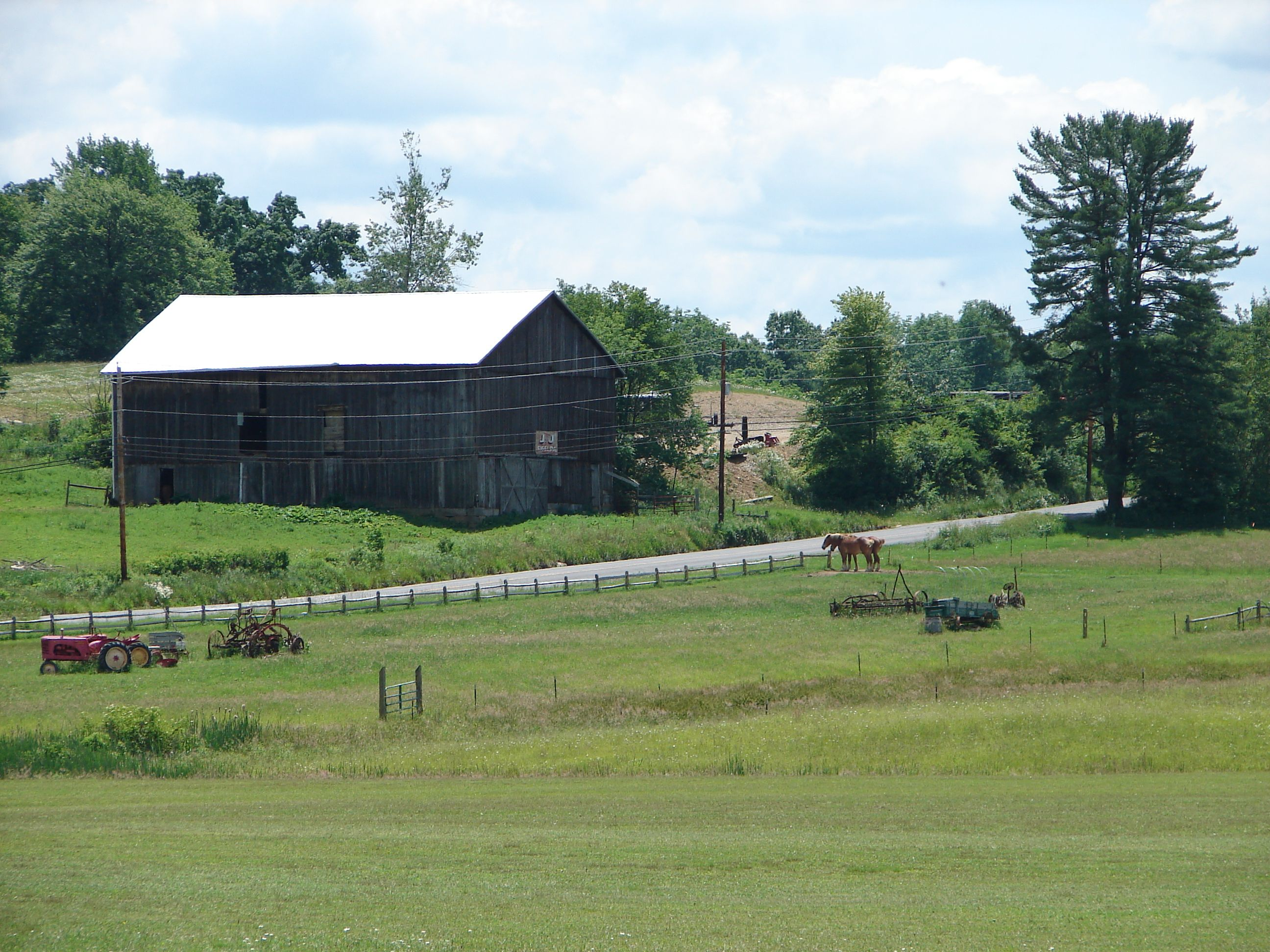 Farm Scene Old Houses And Barns Pinterest
