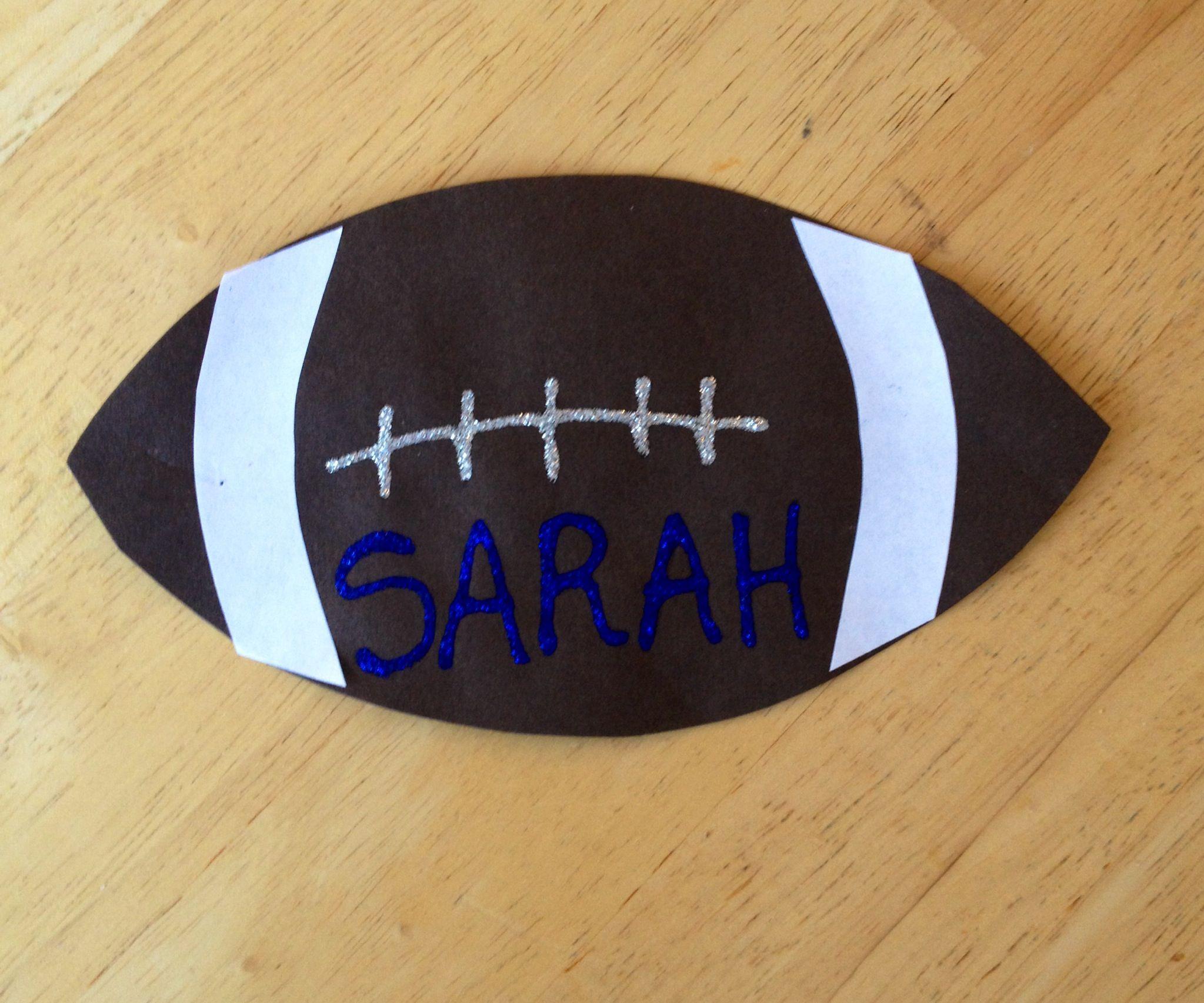 Sarah 39 s football craft kidscrafts preschool activities for Football crafts for preschoolers