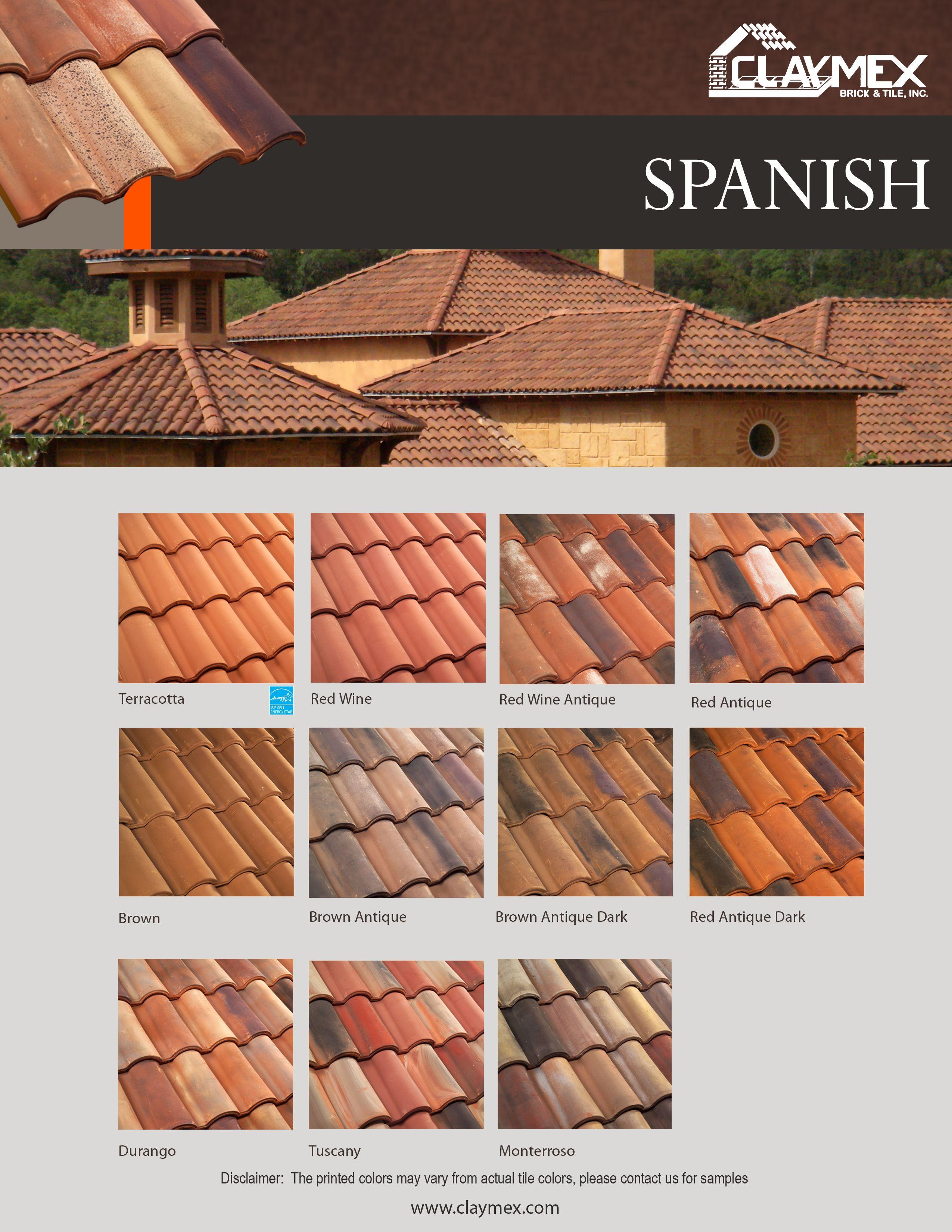 Flyer Part 2 Spanish Roof Tile Pinterest