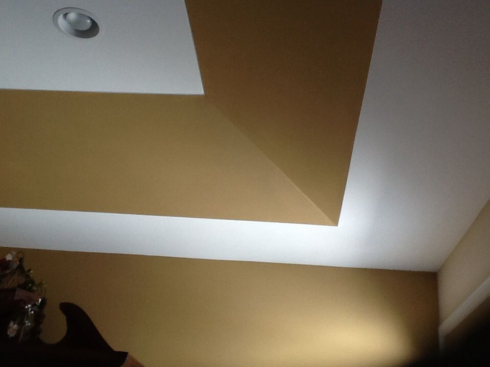 Painting a tray ceiling to add interest interior design for How to paint a bedroom ceiling