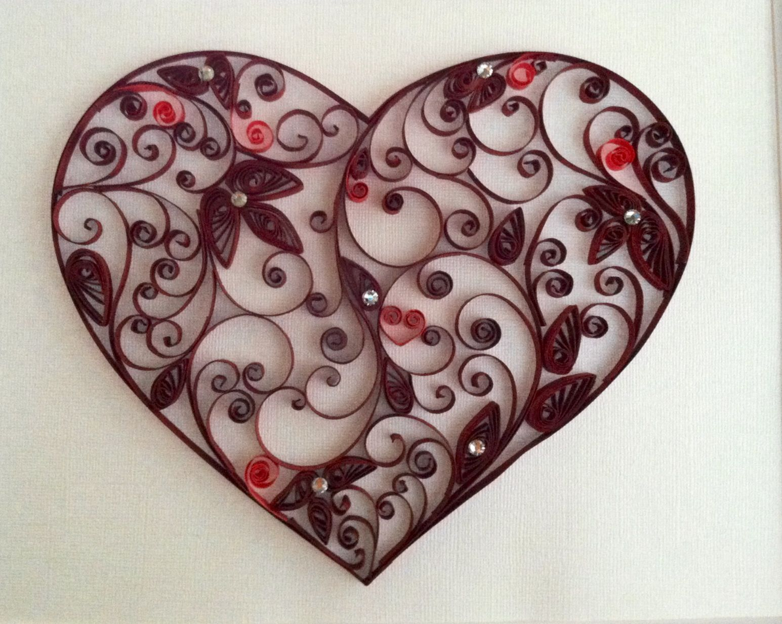 quilled heart so beautiful quilling pinterest