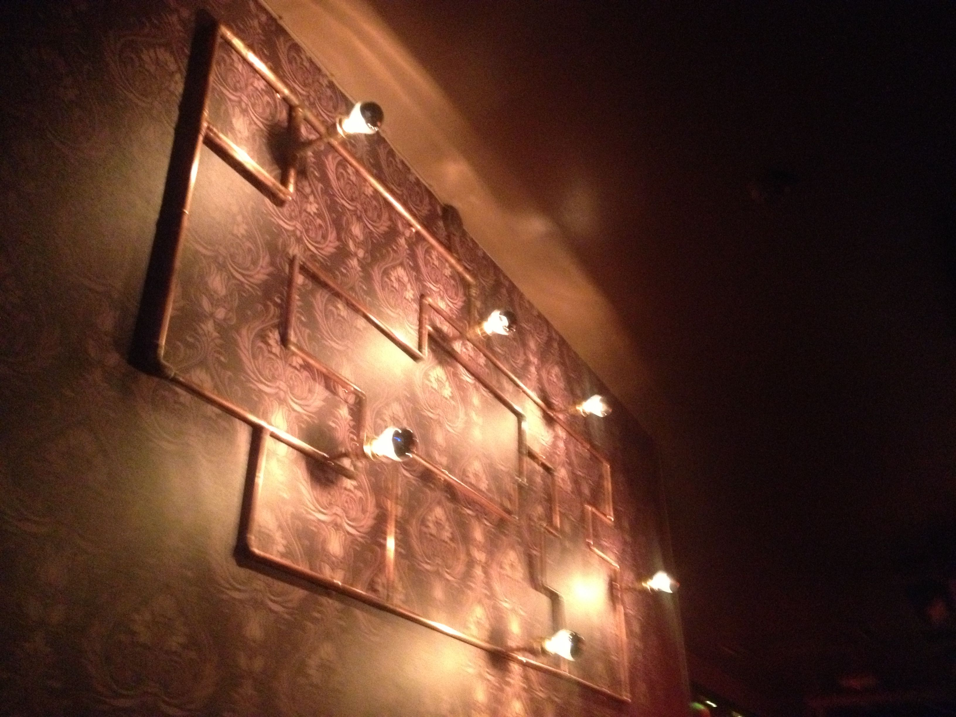 Copper pipe wall lights Deco Pinterest