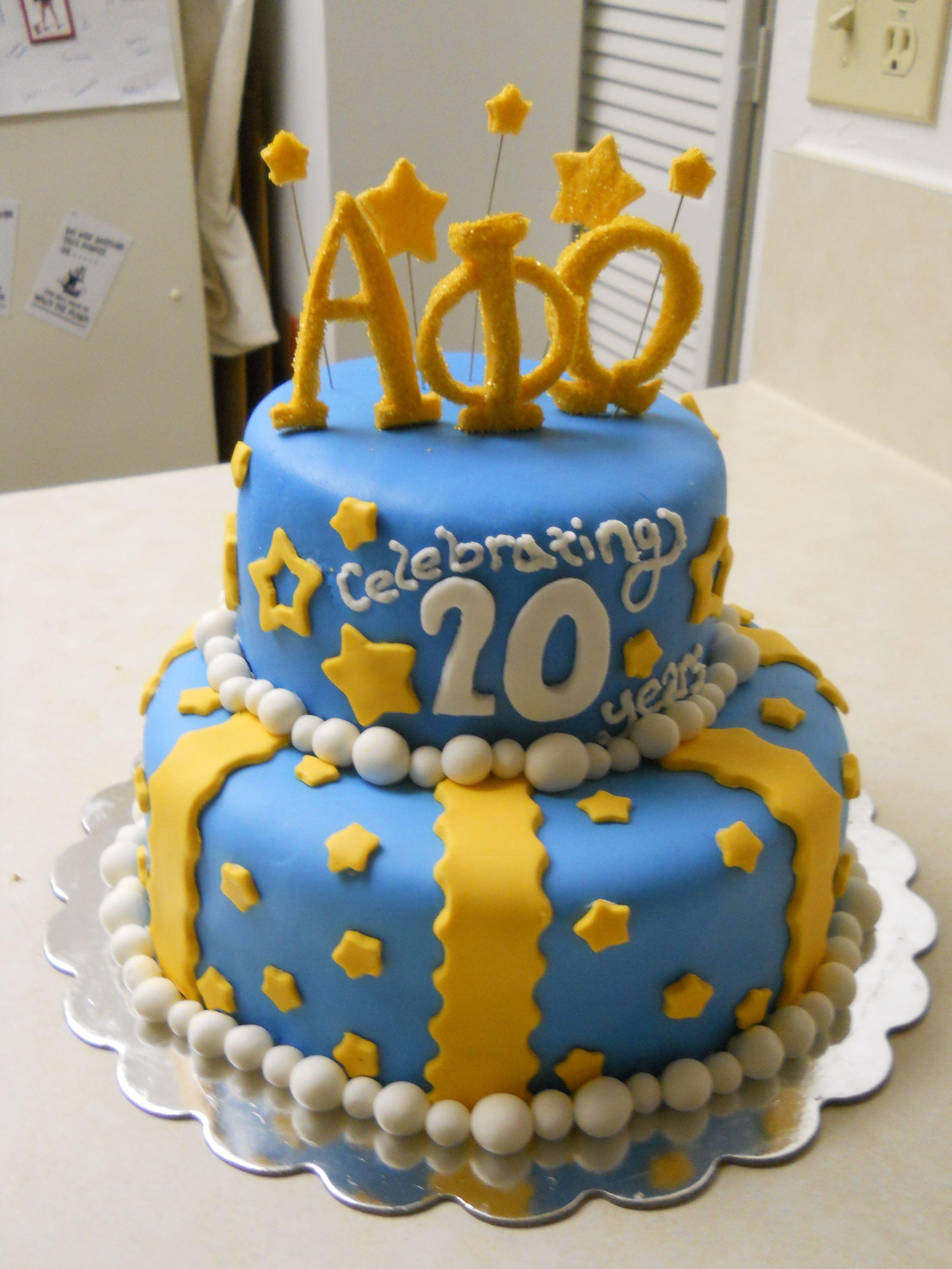 Alpha Phi Birthday Cake