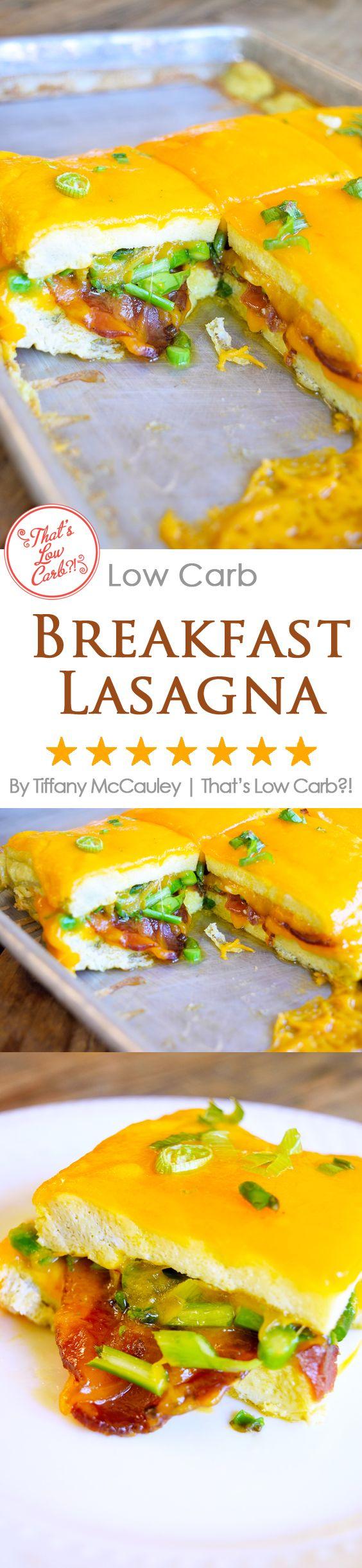 Low Carb Recipes | Breakfast Lasagna Recipe | Egg Recipes | Breakfast Recipes | Low Carb ~ https://www.thatslowcarb.com