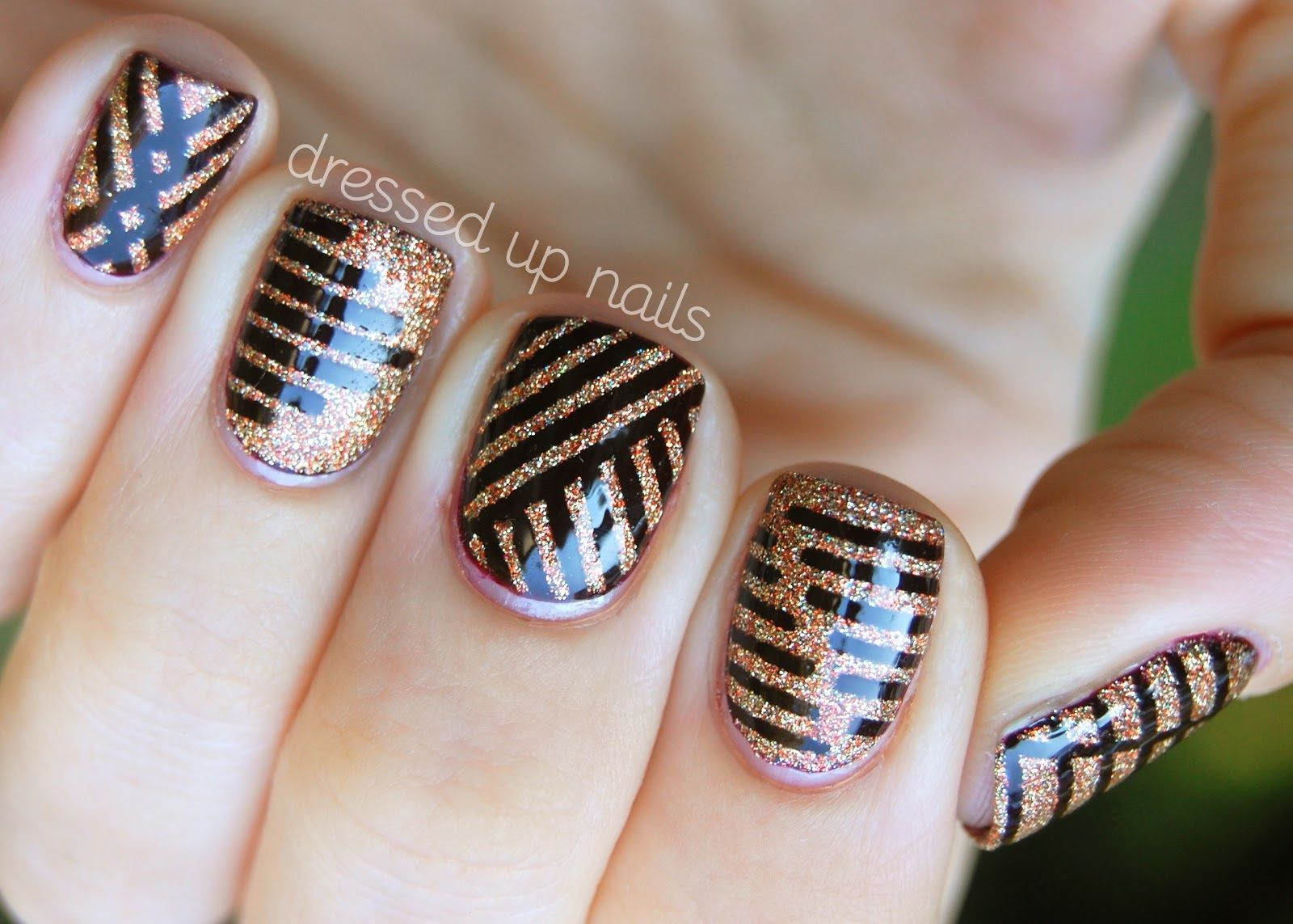 Different Nail Art Types : Love the stripes different types of nails