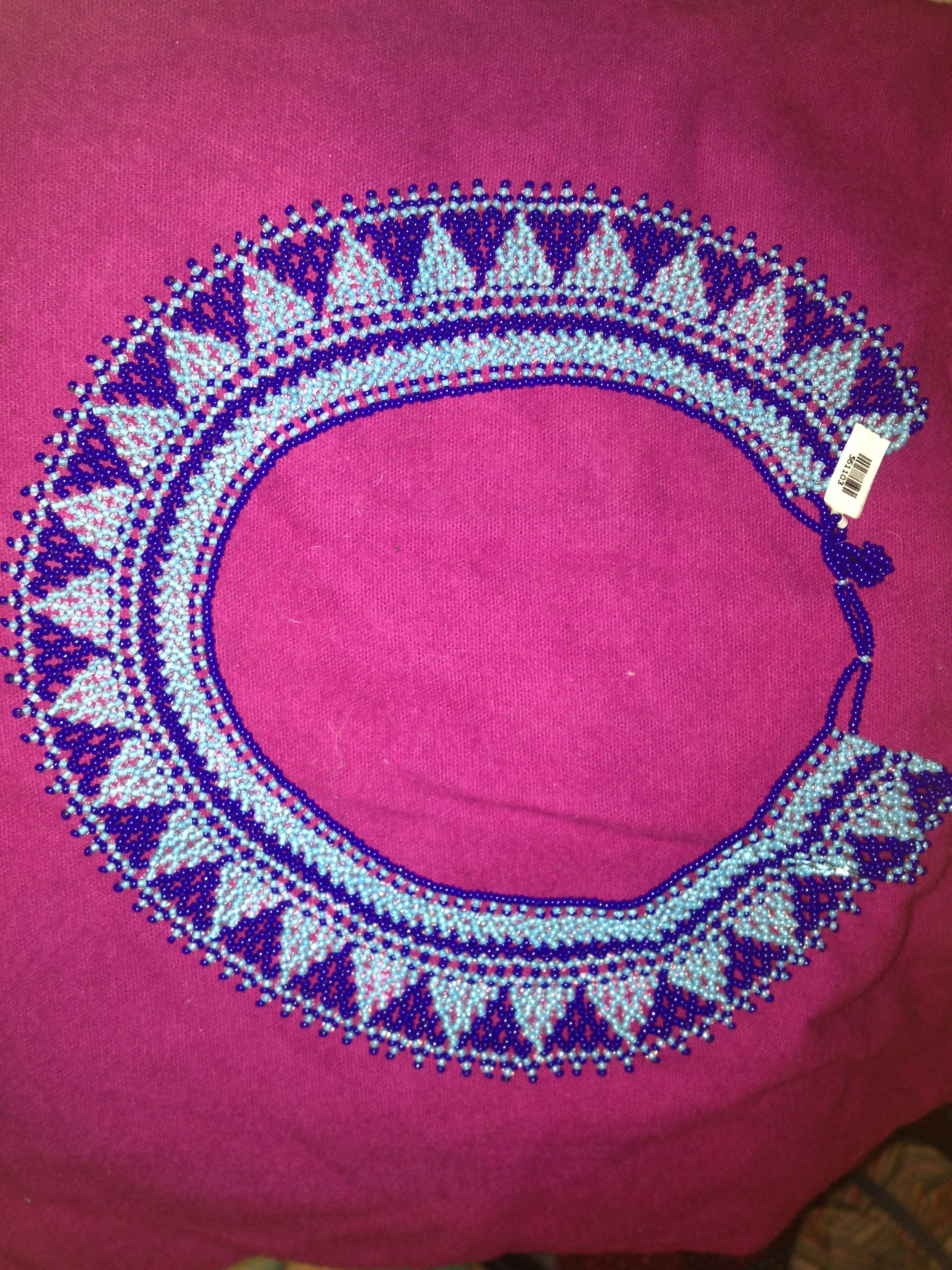 mexican beaded necklace beadwork
