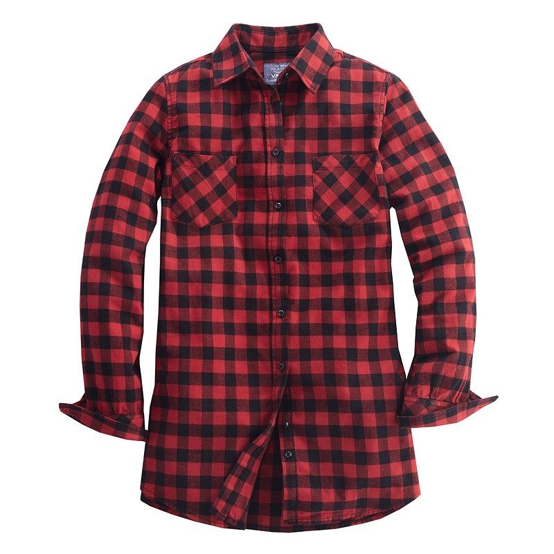 Red and black plaid shirt womens artee shirt Womens red tartan plaid shirt