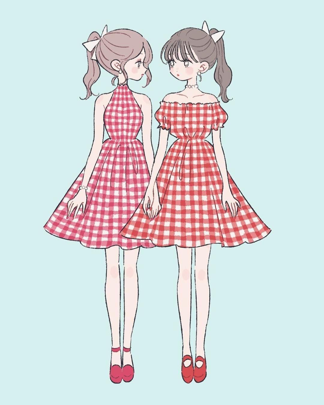 女の子 ドレス イラスト 簡単
